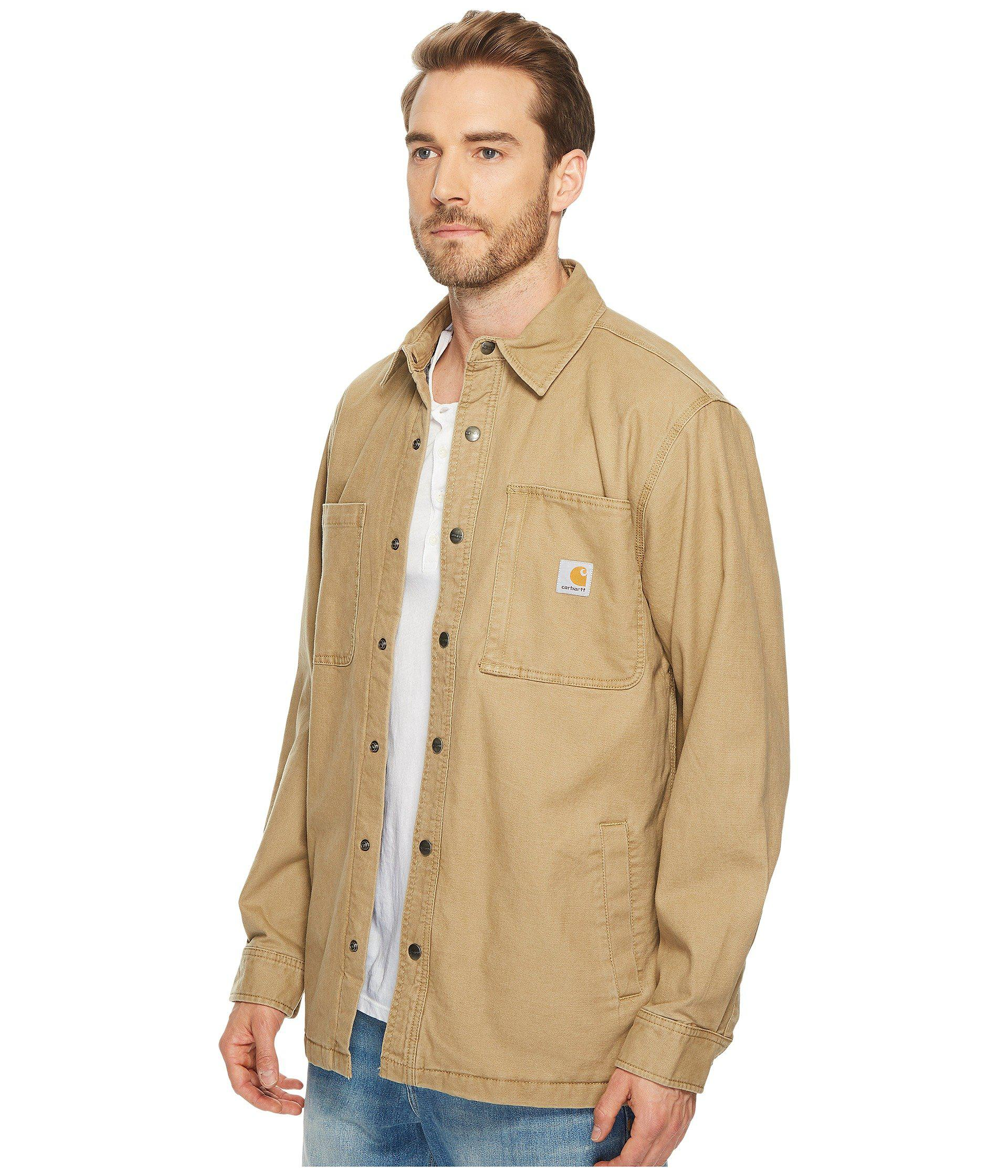 fc1e25a509 Carhartt Rugged Flex® Rigby Shirt Jacket in Natural for Men - Lyst
