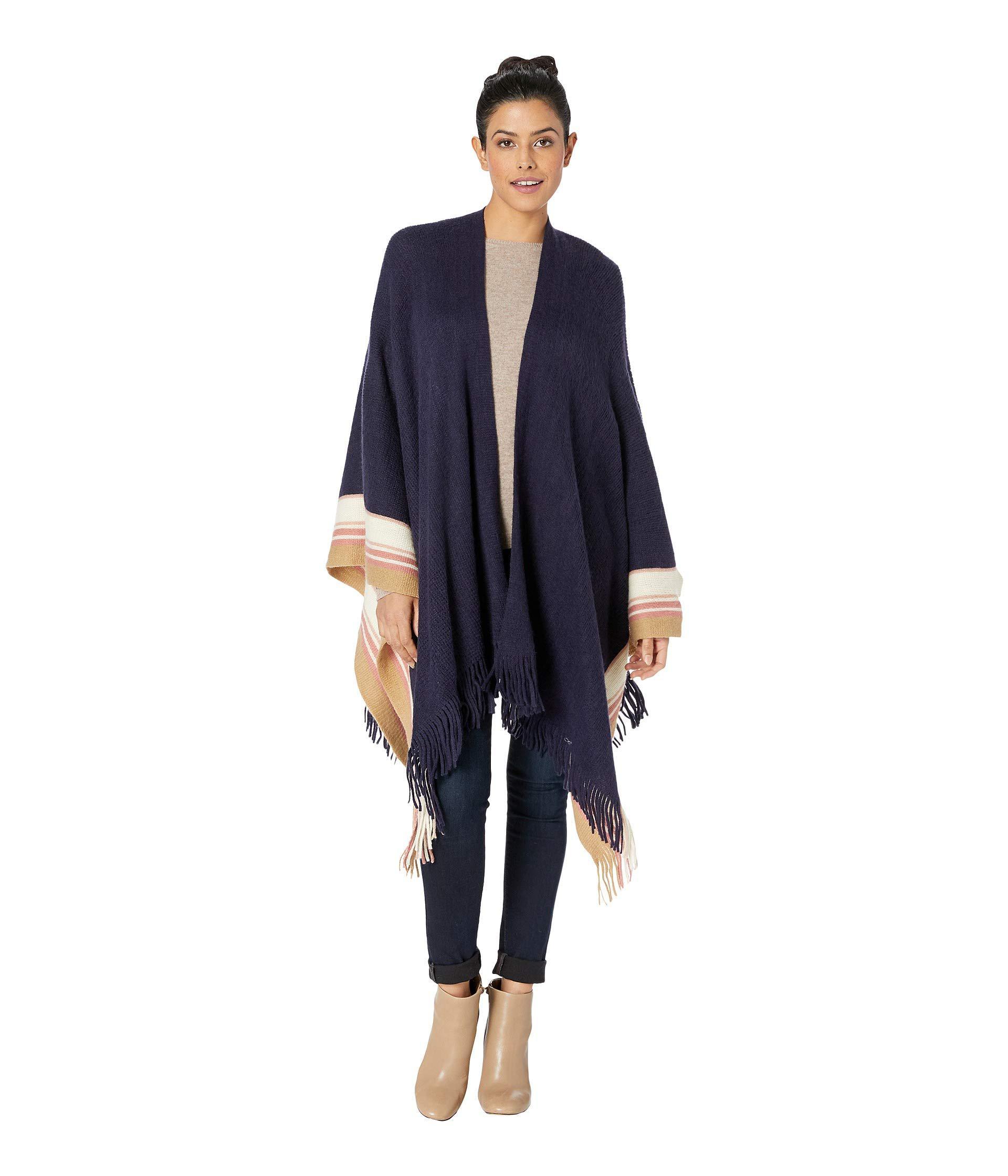 b1101197b8e41 Lyst - Vince Camuto Feels Like Stripes Ruana (navy) Women's Clothing ...