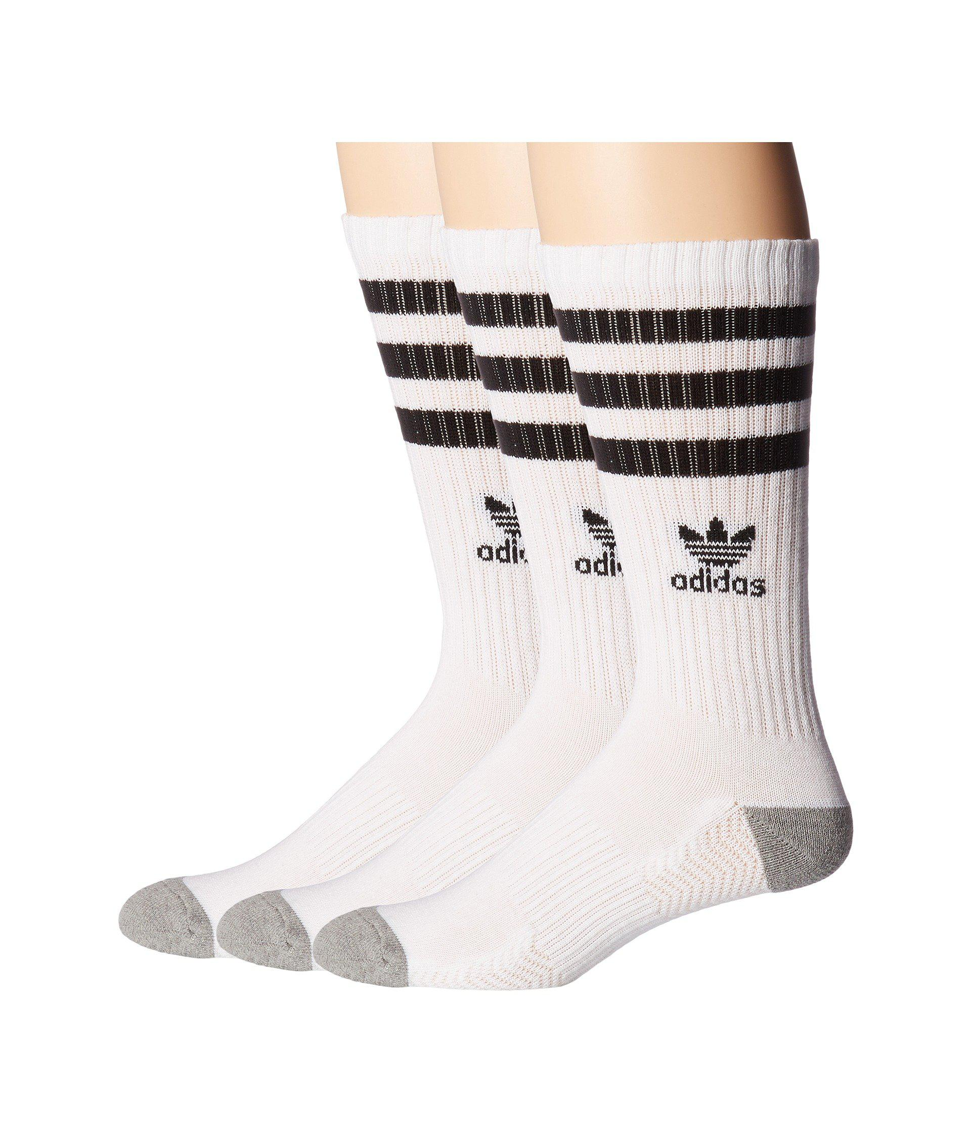 Lyst - adidas Originals Originals Roller Crew Sock 3-pack (light ... 20d8ff697