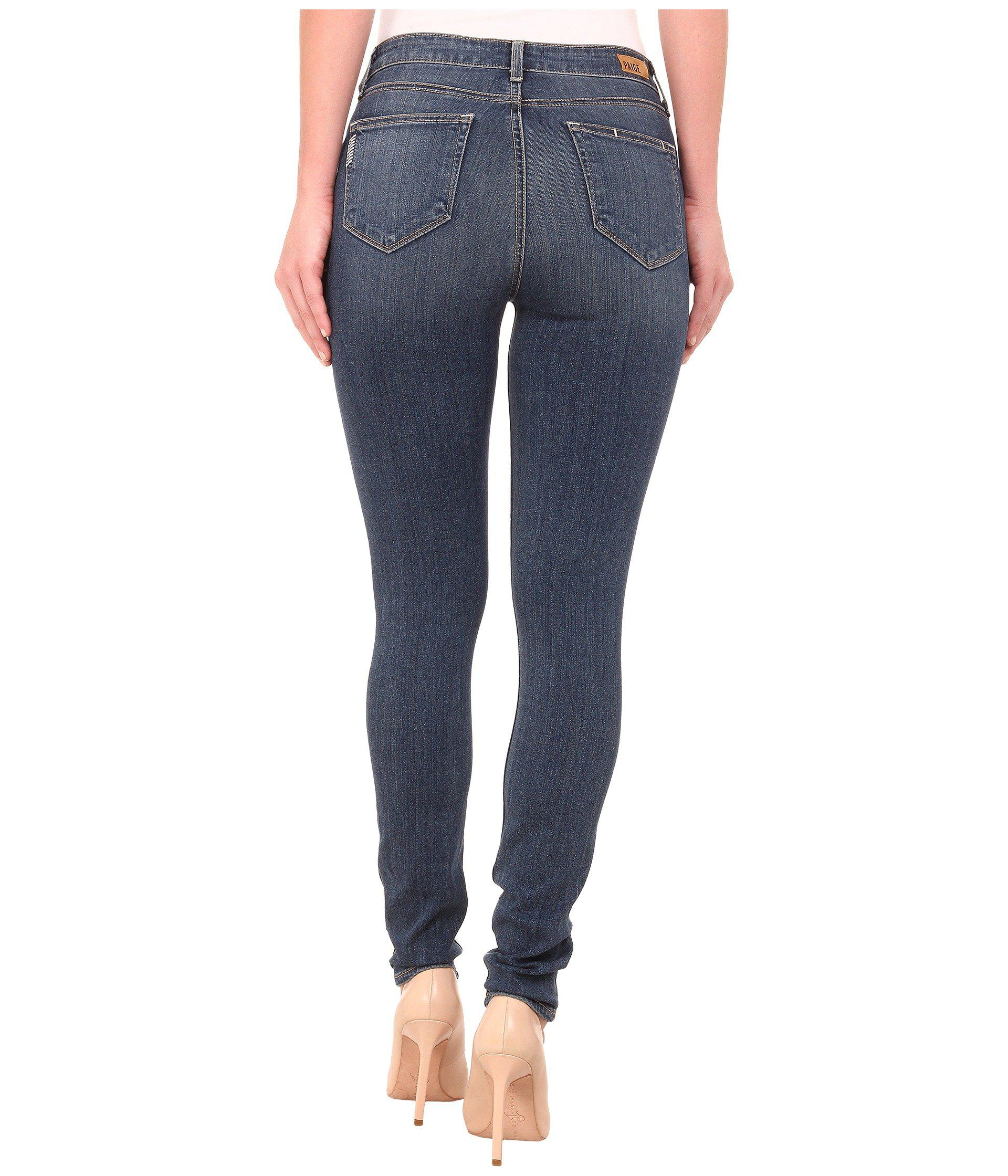 b09b8ad7af4 PAIGE Hoxton Ultra Skinny In Tristan (tristan) Women's Jeans in Blue ...