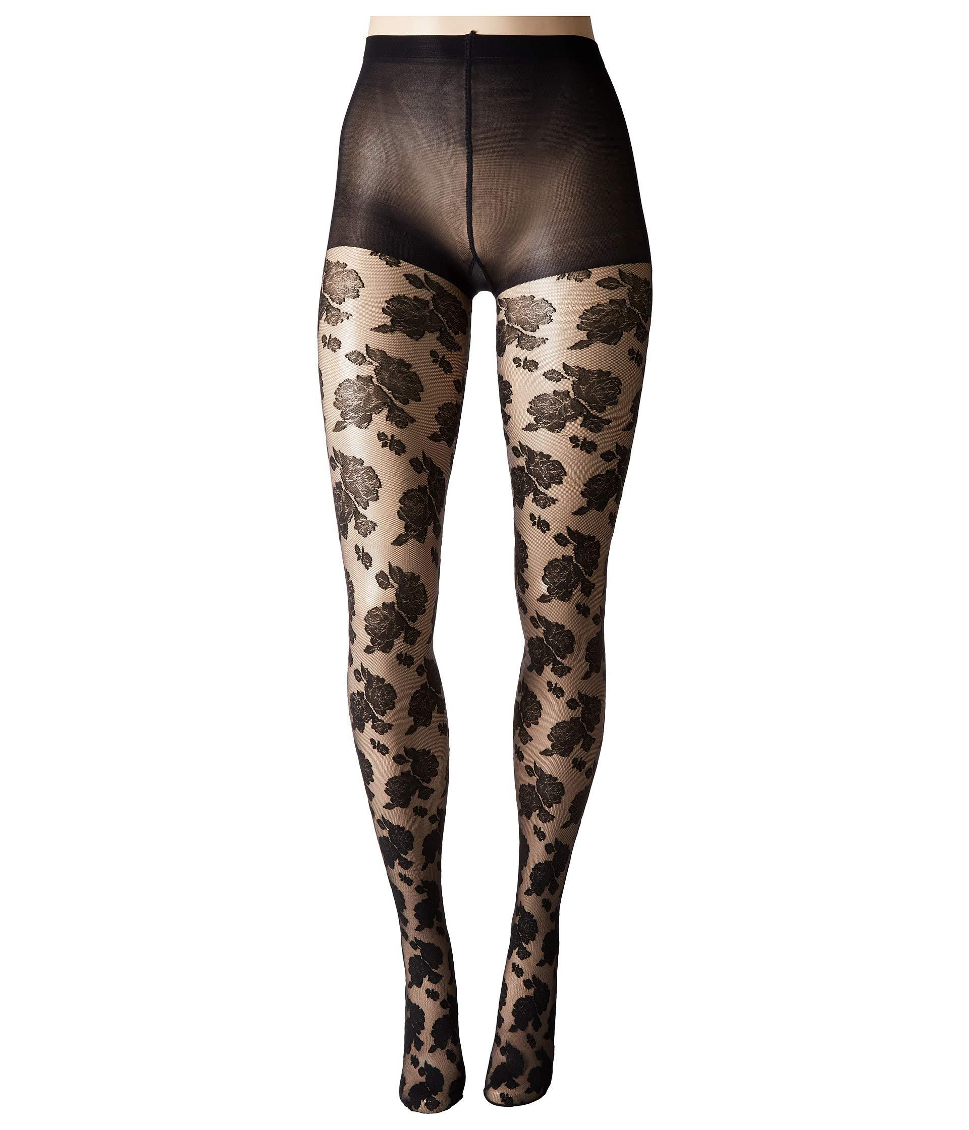 f53795deeca Hue Sheer Floral Lace Tights With Control Top (black) Control Top ...