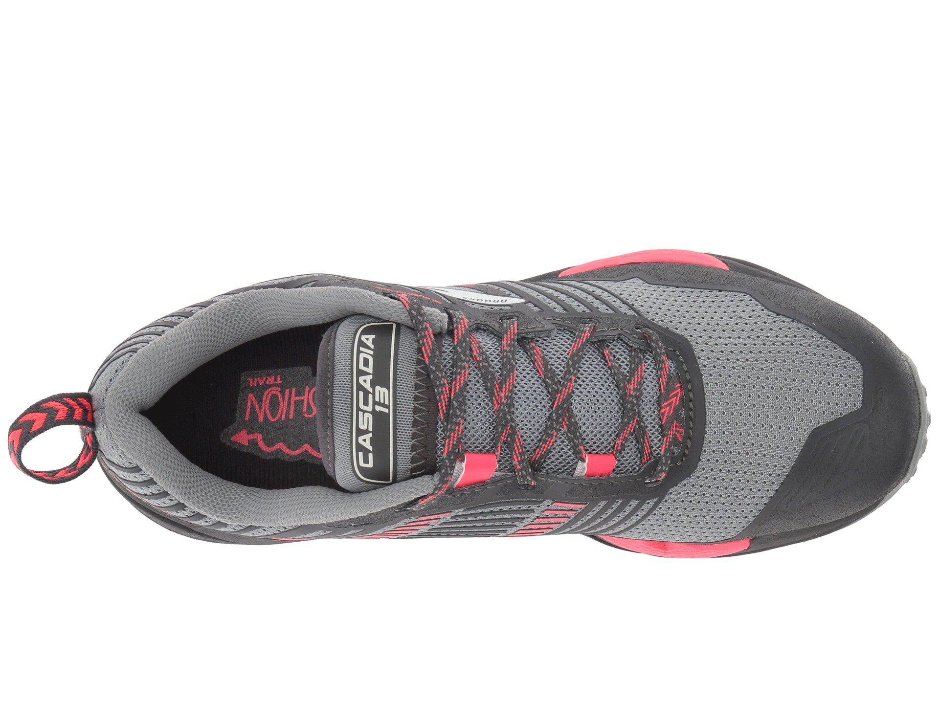 Lyst - Brooks Cascadia 13 (ink navy pink) Women s Running Shoes in Gray bfc0009b4ab