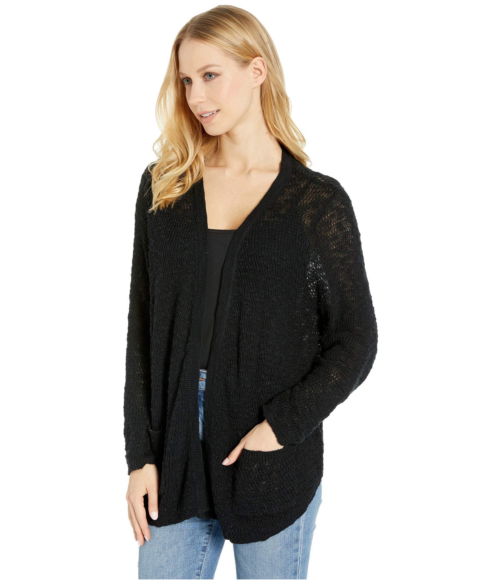 094035bec4 Lyst - Roxy Liberty Discover Cardigan (true Black) Women s Sweater in Black