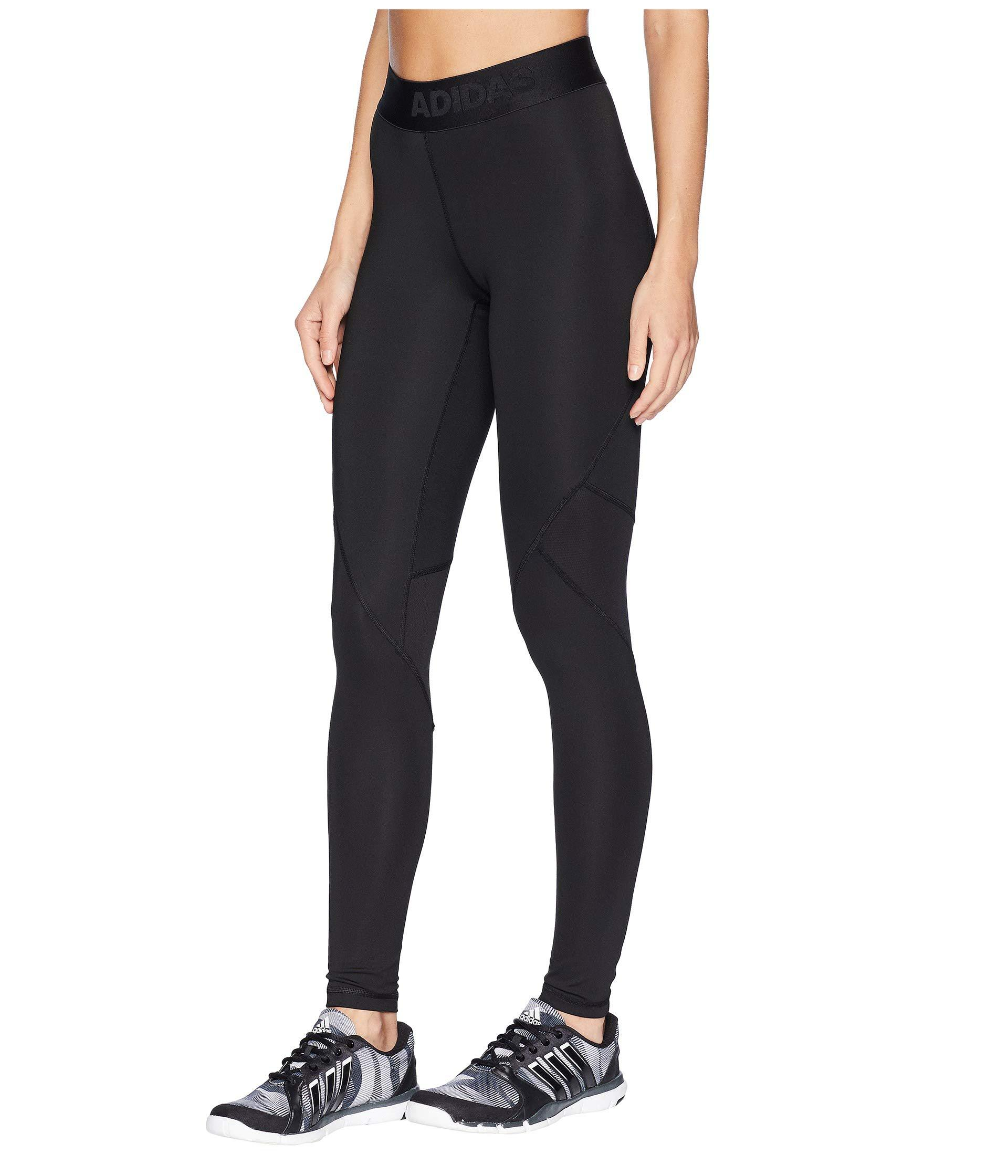 2d8819c29e1 adidas Alphaskin Sport Long Tights (dark Grey Heather black) Women s  Workout in Black - Lyst