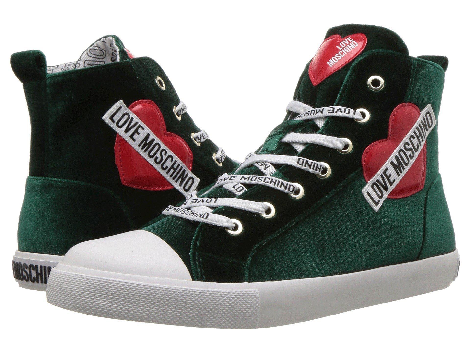 f7fe4031fbb Love Moschino Womens Velvet Doll Ballerina Sneaker Loafers   Slip-Ons
