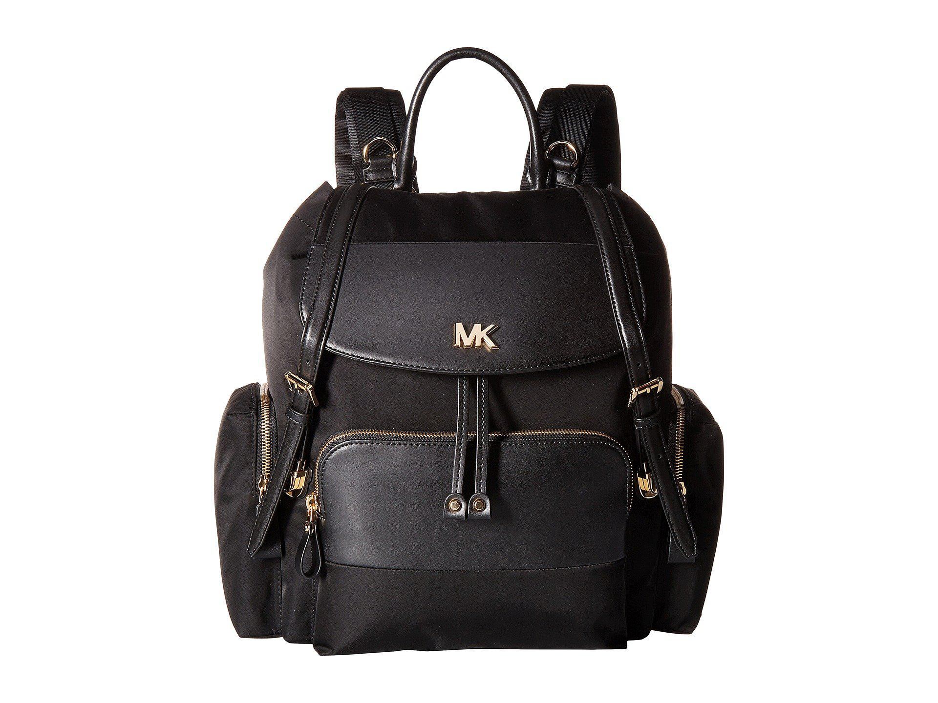 4f8bdba7aa8c MICHAEL Michael Kors Mott Large Flap Diaper Bag Backpack (black ...