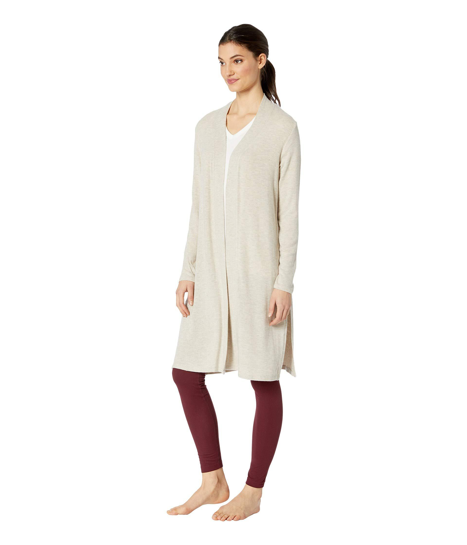 27bb3e680e Lyst - Beyond Yoga High Slits Long Duster (black) Women's Sweater in Natural