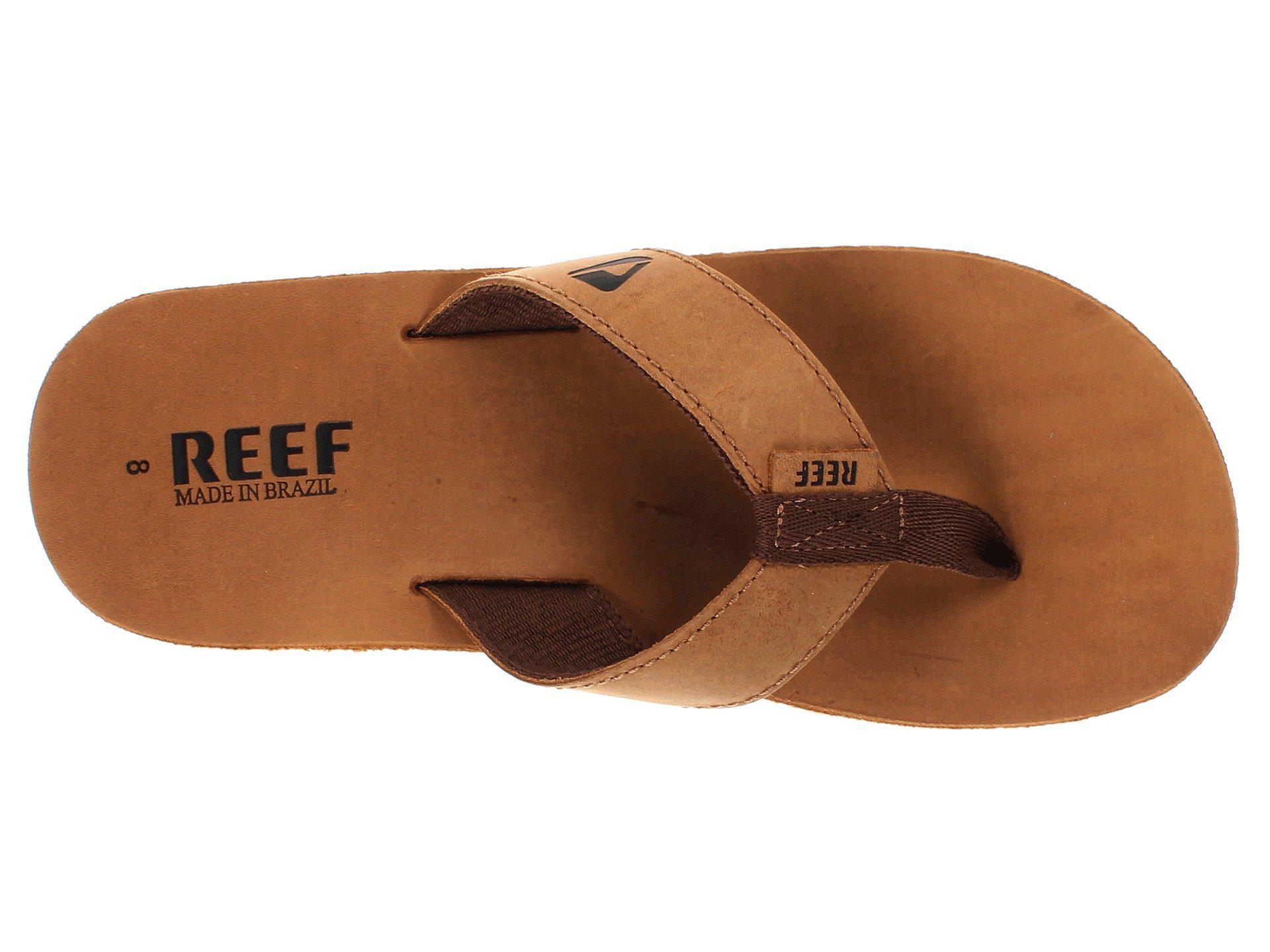 4f0a334647f0 Reef - Metallic Leather Smoothy (bronze brown) Men s Sandals for Men -  Lyst. View fullscreen