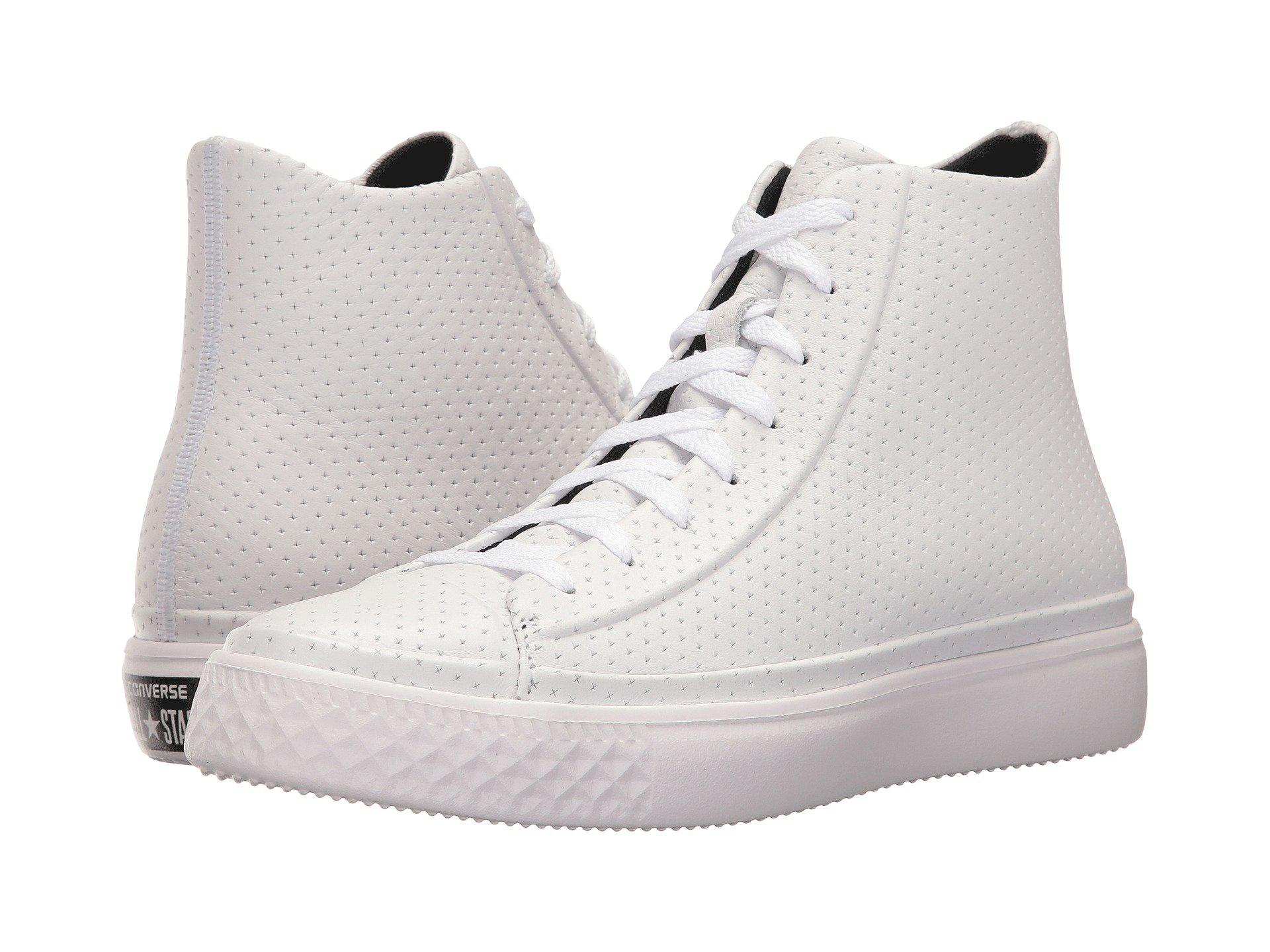 00c980d0100 Lyst - Converse Chuck Taylor All Star Modern Perforated Leather in White