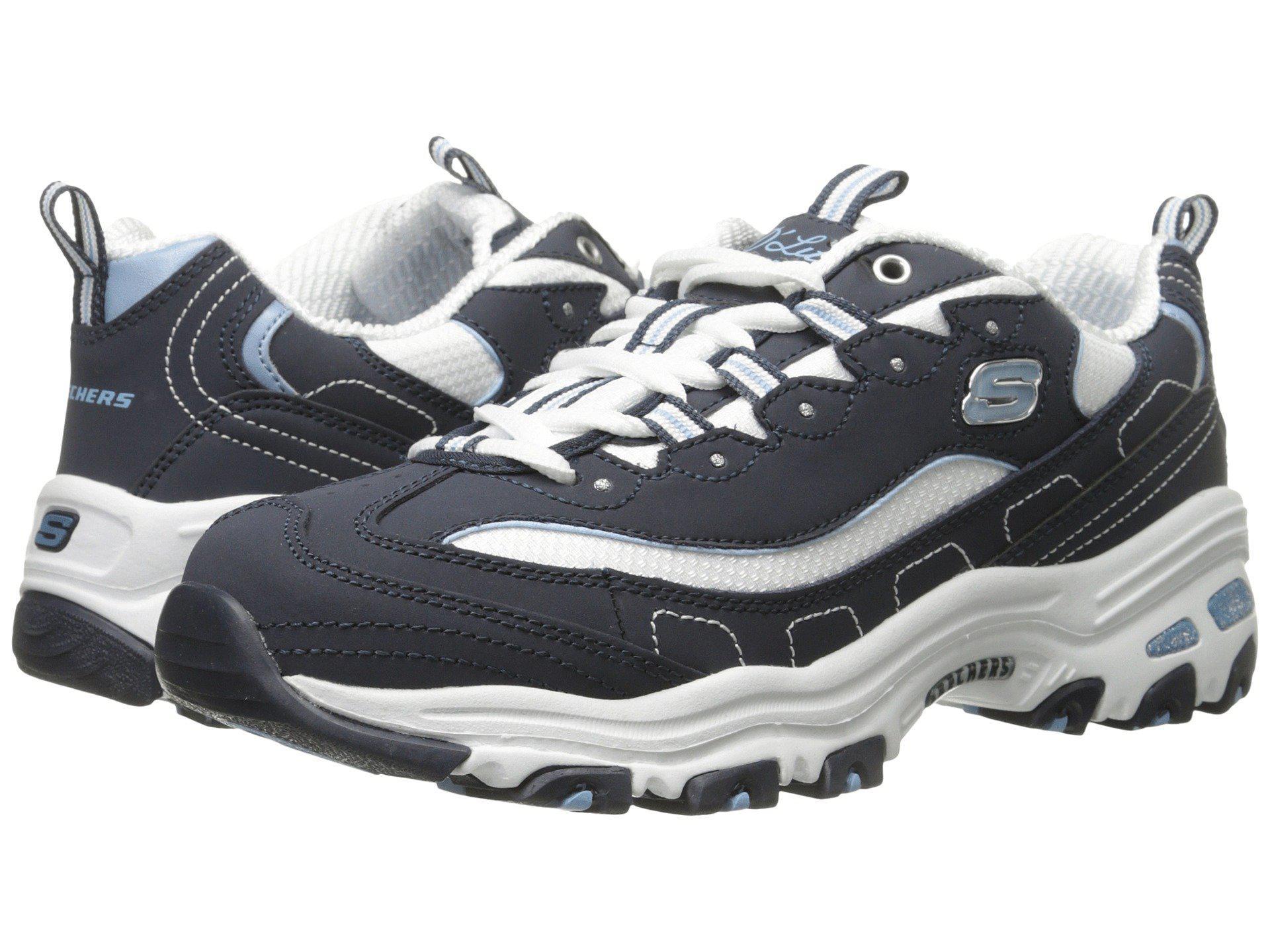 Lyst - Skechers D lites - Biggest Fan (navy) Women s Shoes in Blue ce8638f9d1