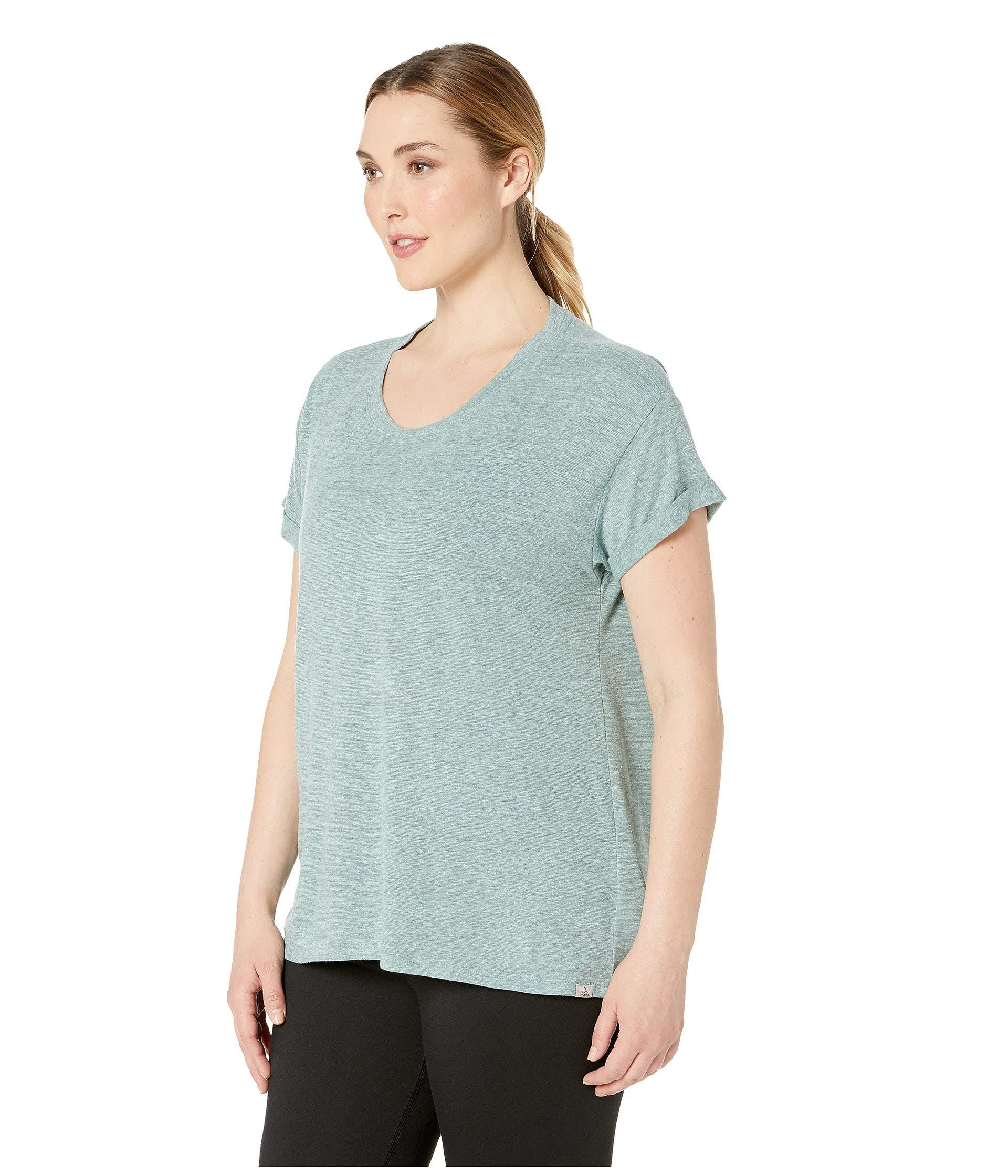 f6f01ea6a Lyst - Prana Plus Size Cozy Up T-shirt (iced Aqua Heather) Women's T Shirt  in Blue