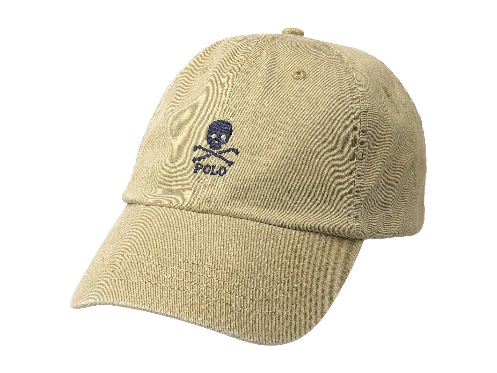 0144541408112 Polo Ralph Lauren Classic Sport Skull Chino Hat (luxury Tan) Caps ...