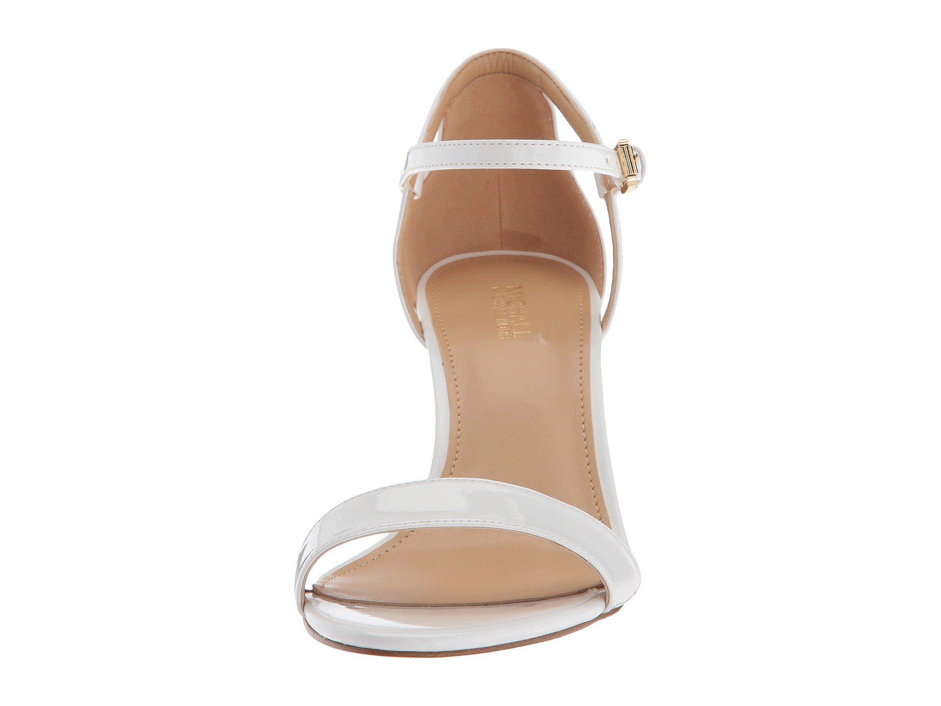 ae3e908ed478 Lyst - MICHAEL Michael Kors Simone Mid Sandal (black silver Glitter ...