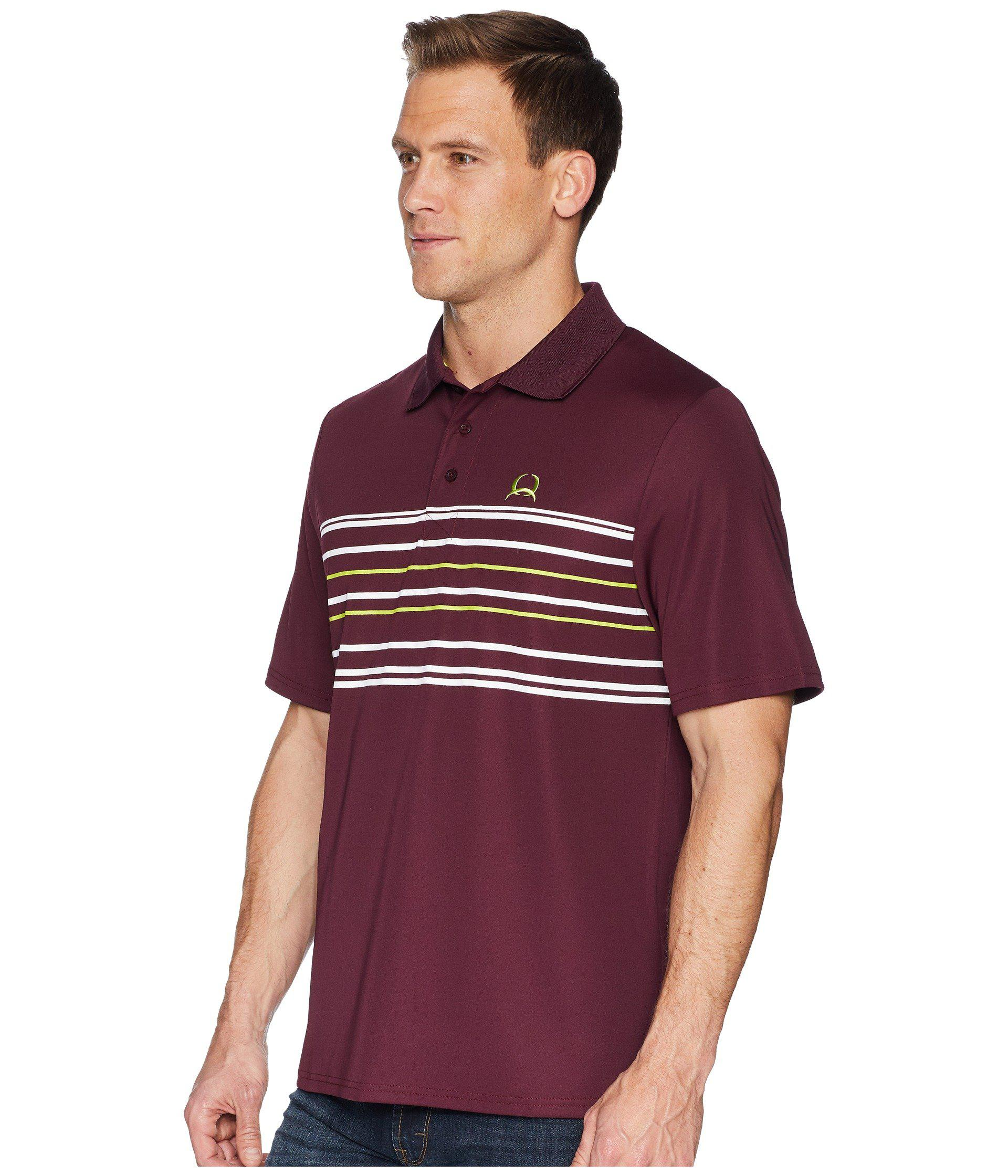 acf0c8fc Lyst - Cinch Athletic Tech Polo (burgundy 1) Men's Short Sleeve ...