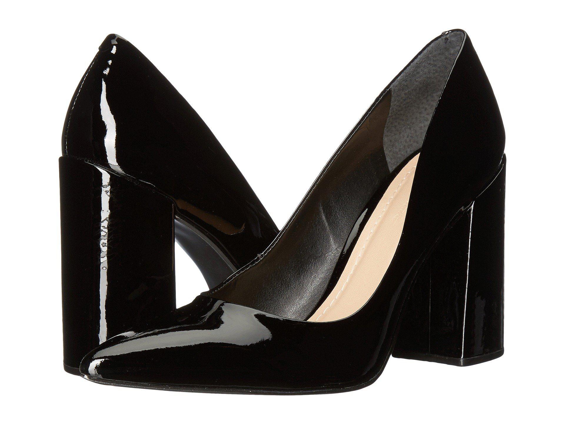 1b9c34b53857 Lyst - Massimo Matteo Block Heel Pump (black Patent) High Heels in Black