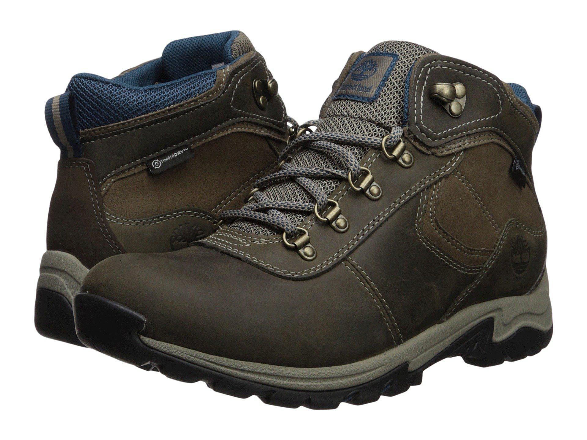 Timberland. Men's Gray Mt. Maddsen Mid Leather Waterproof