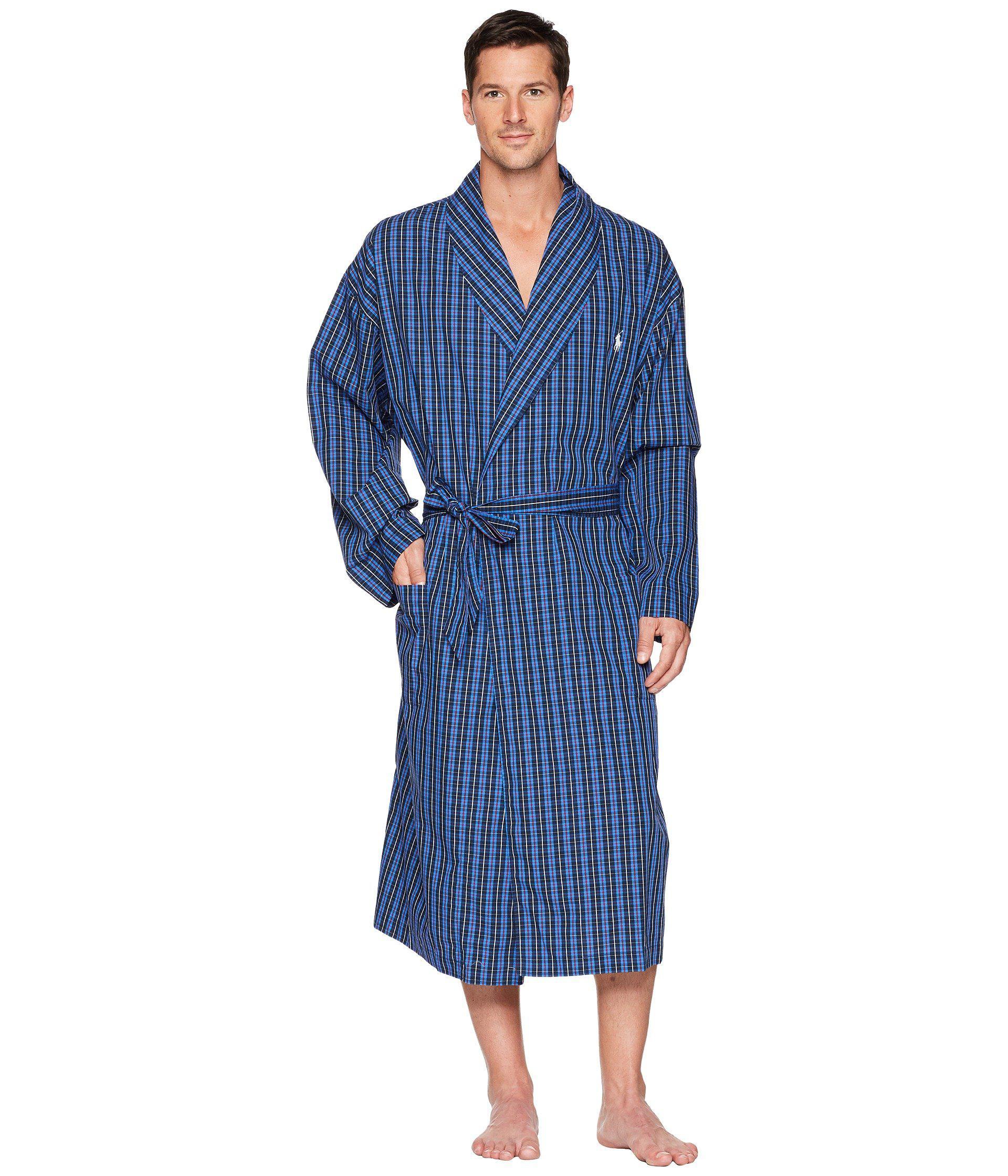 94aed4f2fc Lyst - Polo Ralph Lauren Woven Robe (harwick Plaid) Men s Robe in ...