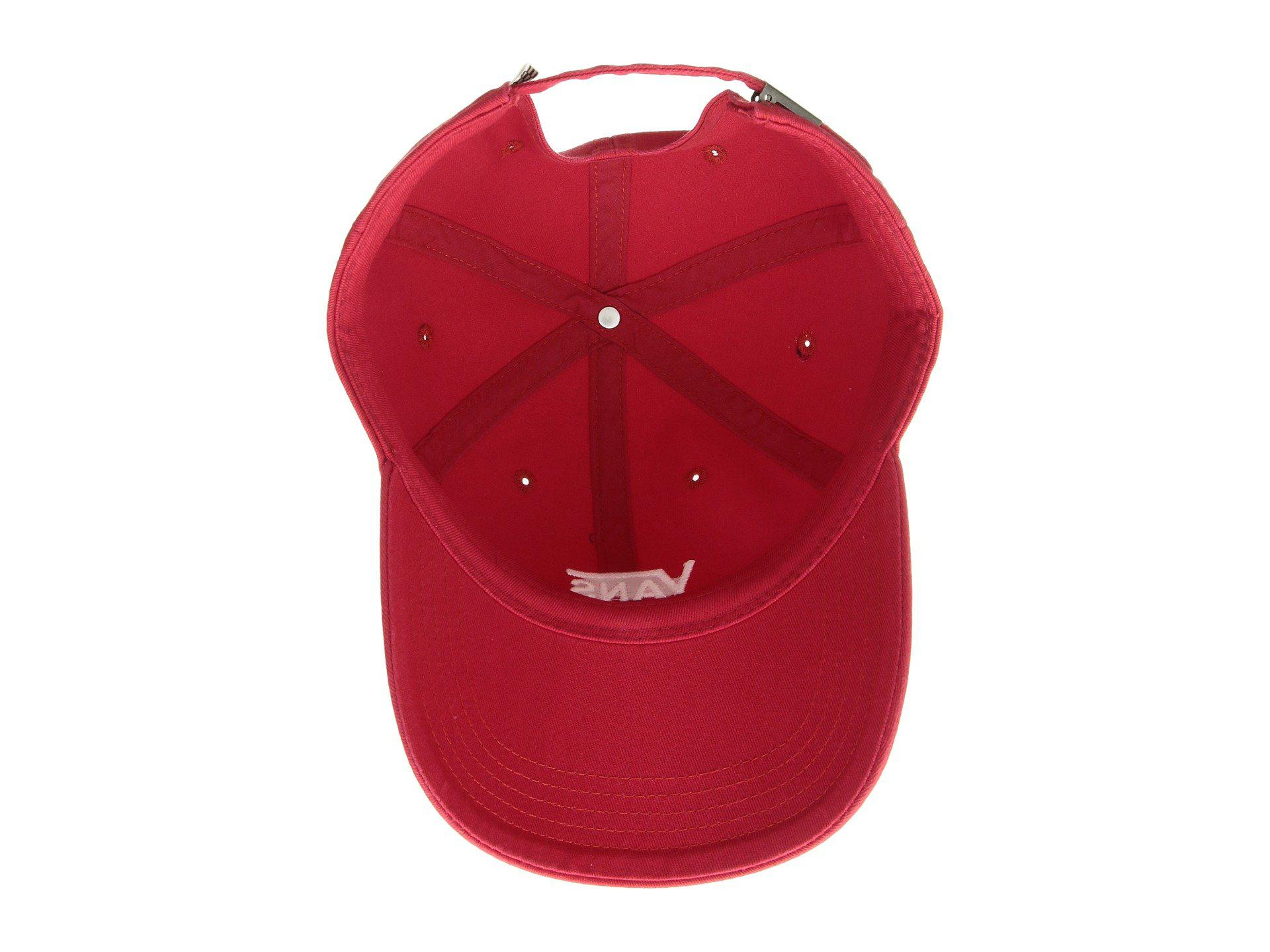 b3f378d5c3e Lyst - Vans Court Side Hat (crimson white) Caps in Red