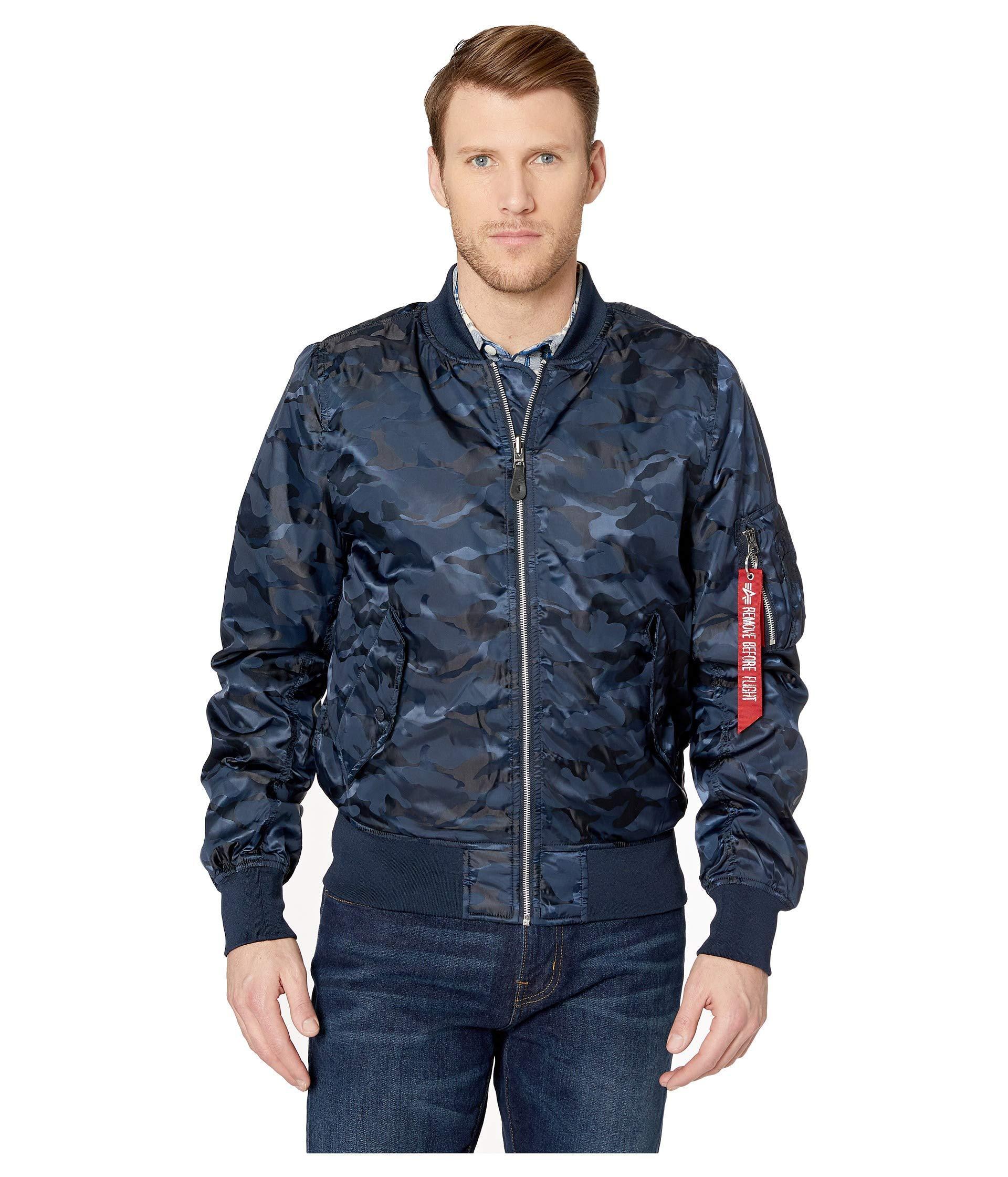 the best designer fashion new design Men's Blue L-2b Scout L.o. Camo Flight Jacket