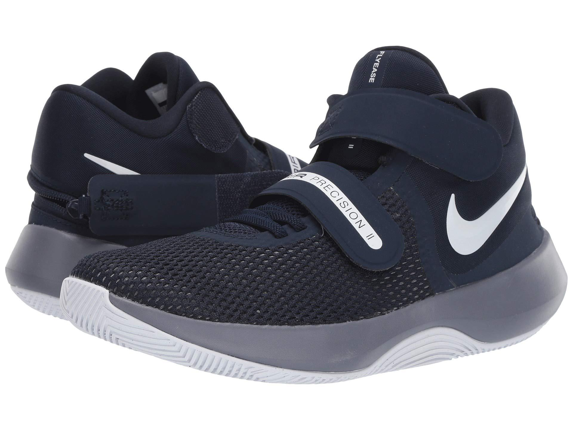 54c836811f3c Nike. Air Precision Ii Flyease (cool Grey black white photo Blue) Men s  Basketball Shoes