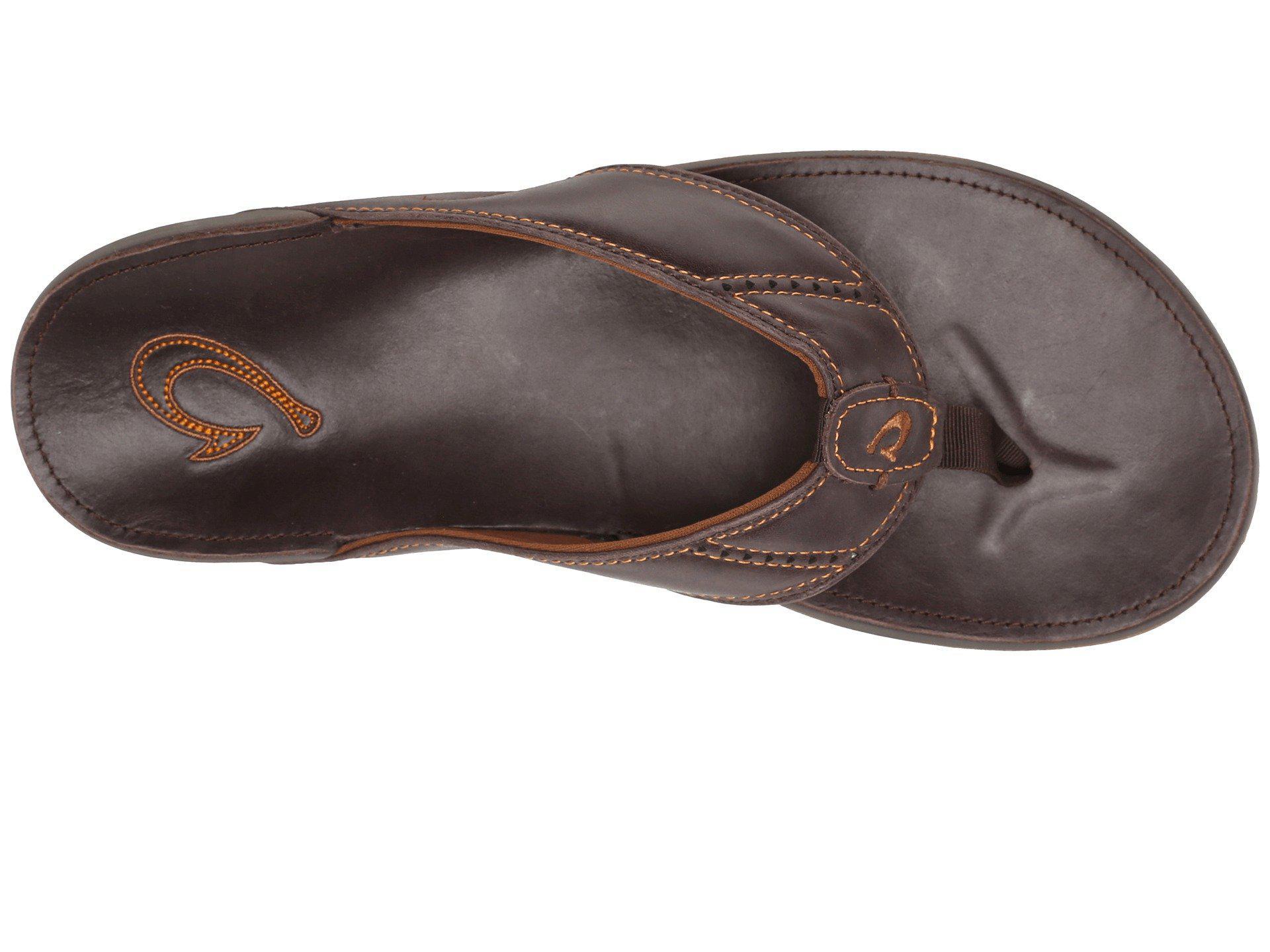 ce7a771d90a1 Olukai - Brown Nui (onyx onyx) Men s Sandals for Men - Lyst. View fullscreen