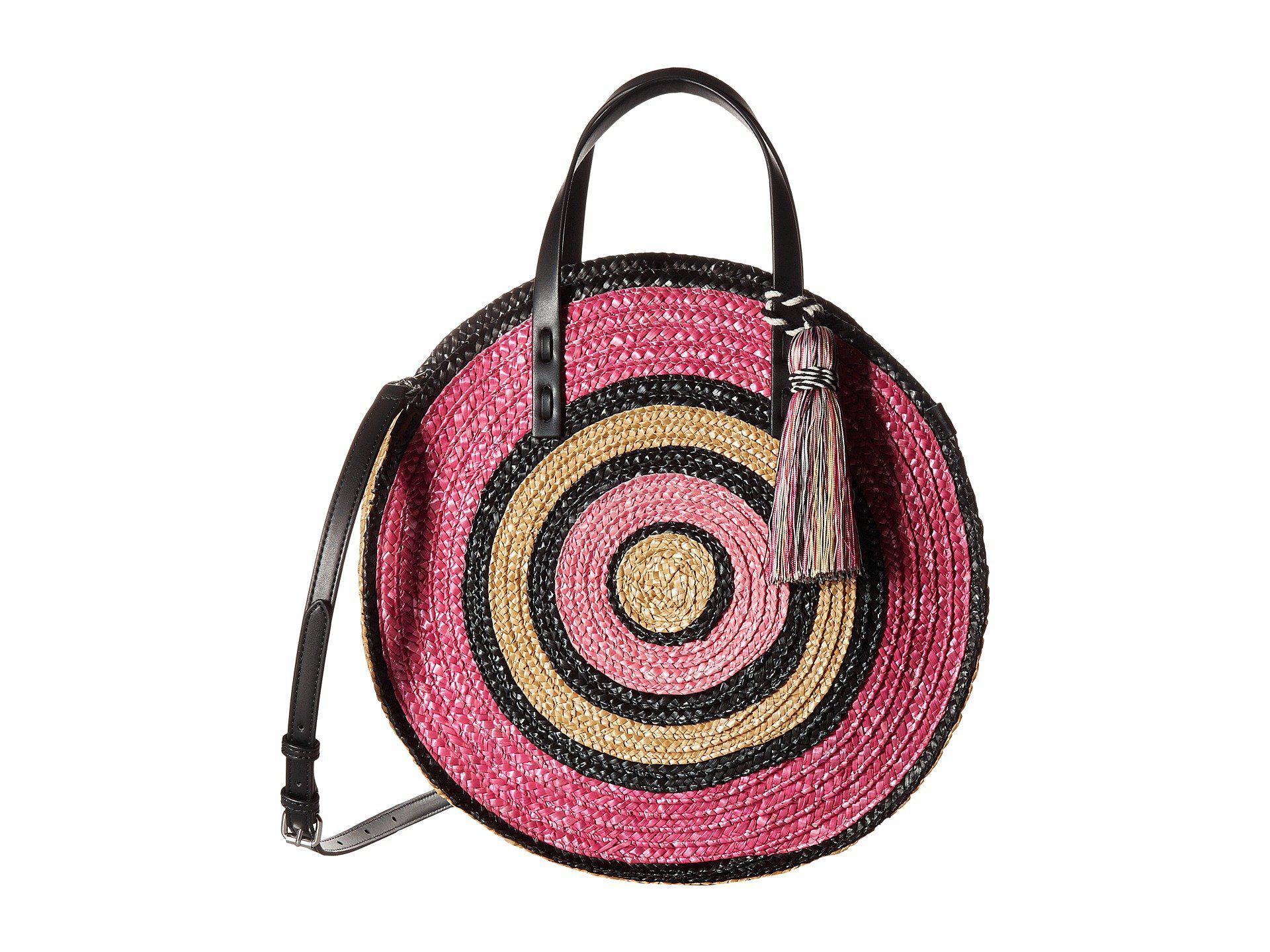 Rebecca Minkoff STRAW TOTE - Shopping Bag - pink multi