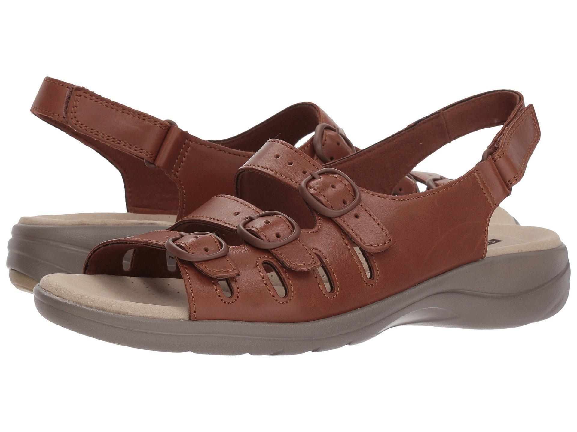49eeb2b0a3d Lyst - Clarks Saylie Quartz (tan Leather) Women s Sandals in Brown