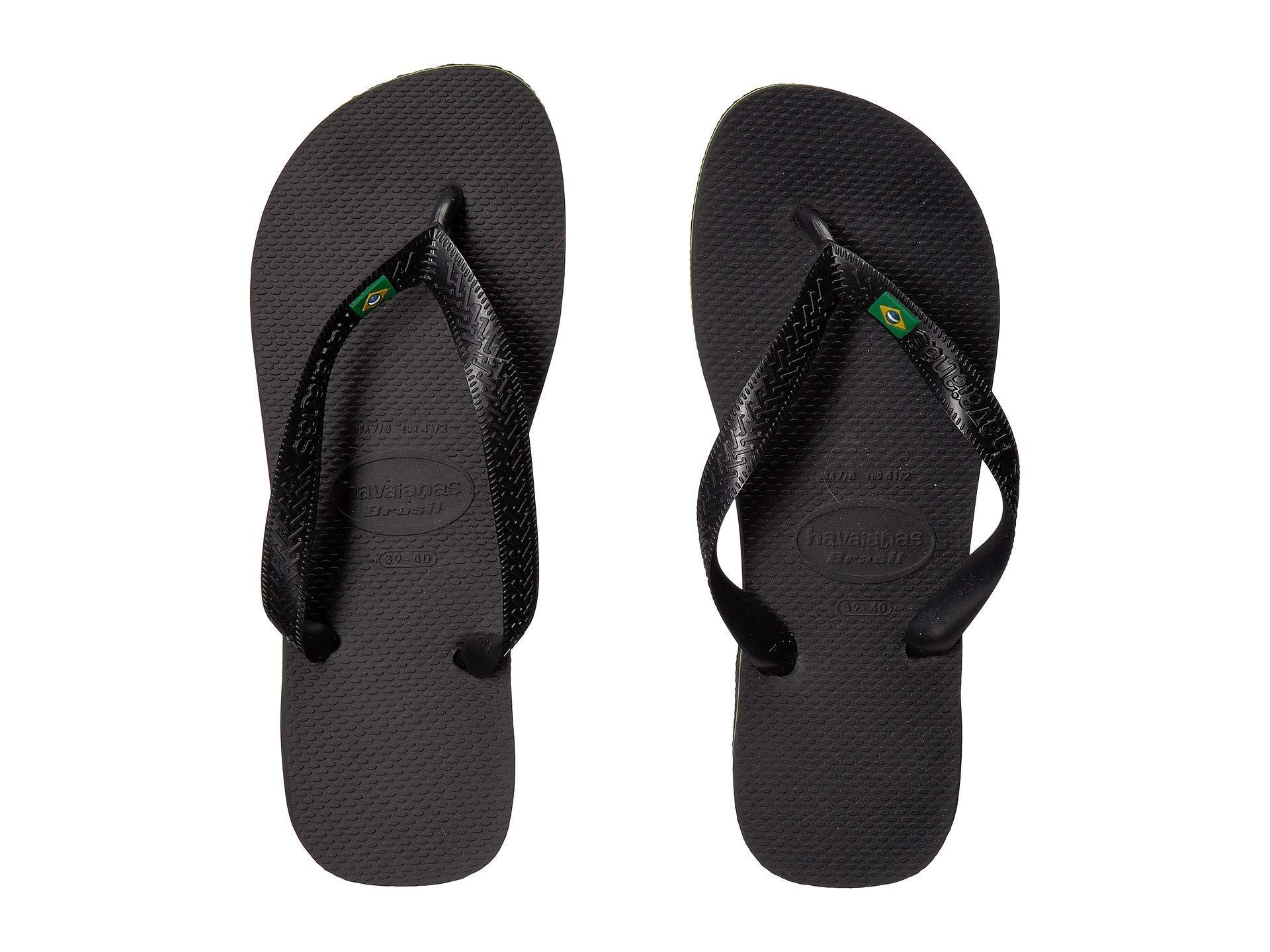 3b9f7a4f943949 Lyst - Havaianas Brazil Flip Flops (black) Women s Sandals in Black