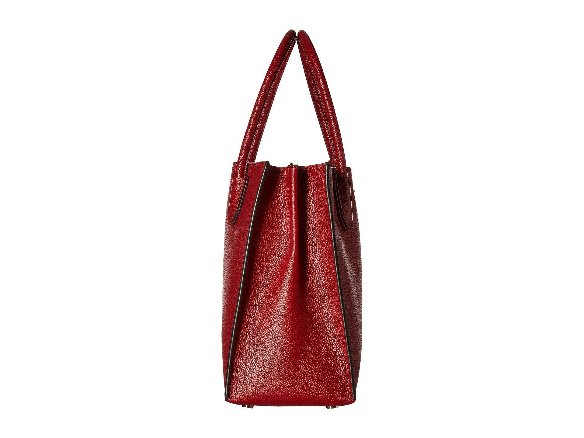 fb811fcec5 Lyst - MICHAEL Michael Kors Large Mercer Leather Tote Bag in Red