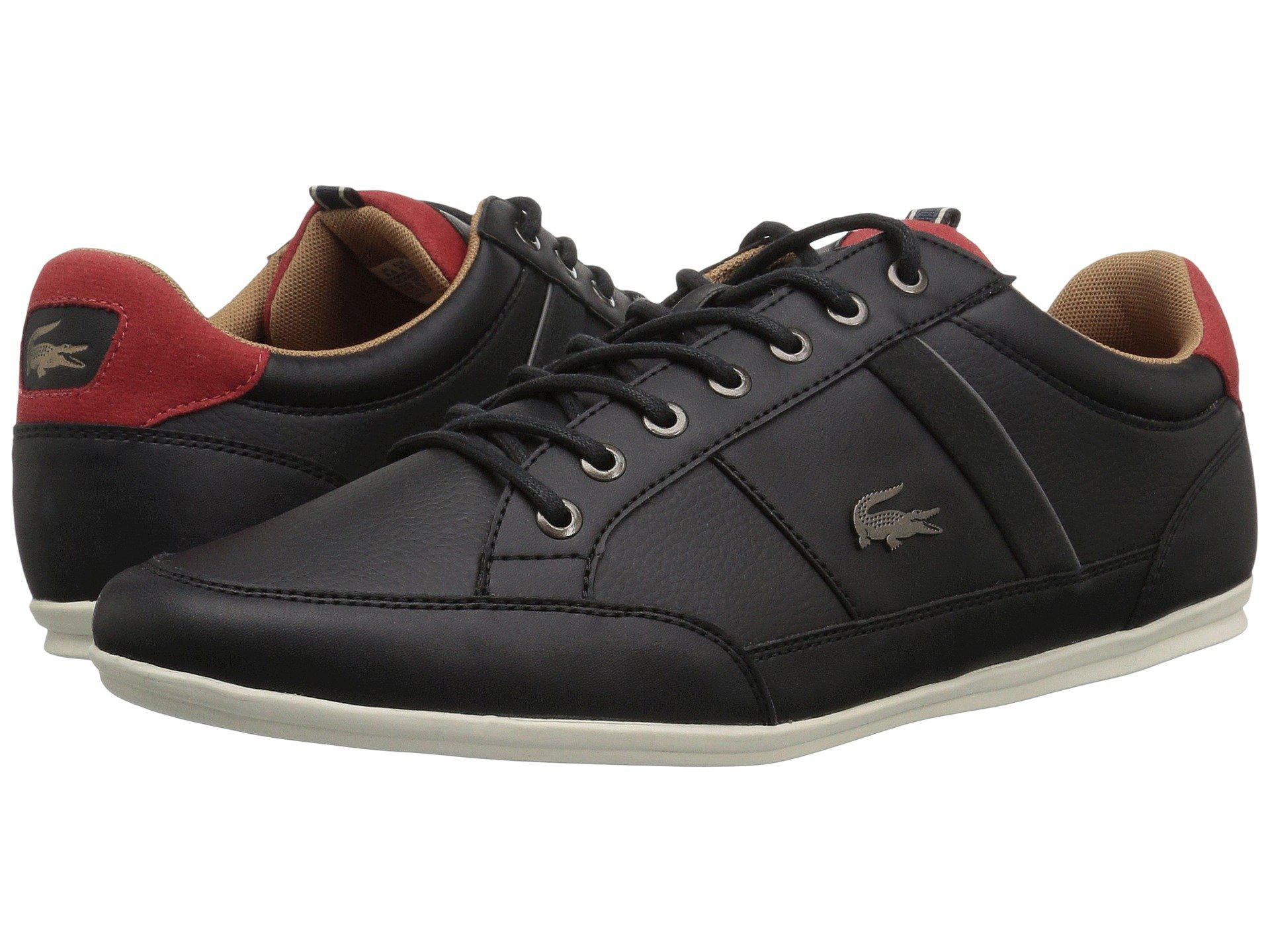 9a5f02c9885259 Lyst - Lacoste Chaymon 118 2 (black red) Men s Shoes in Black for Men