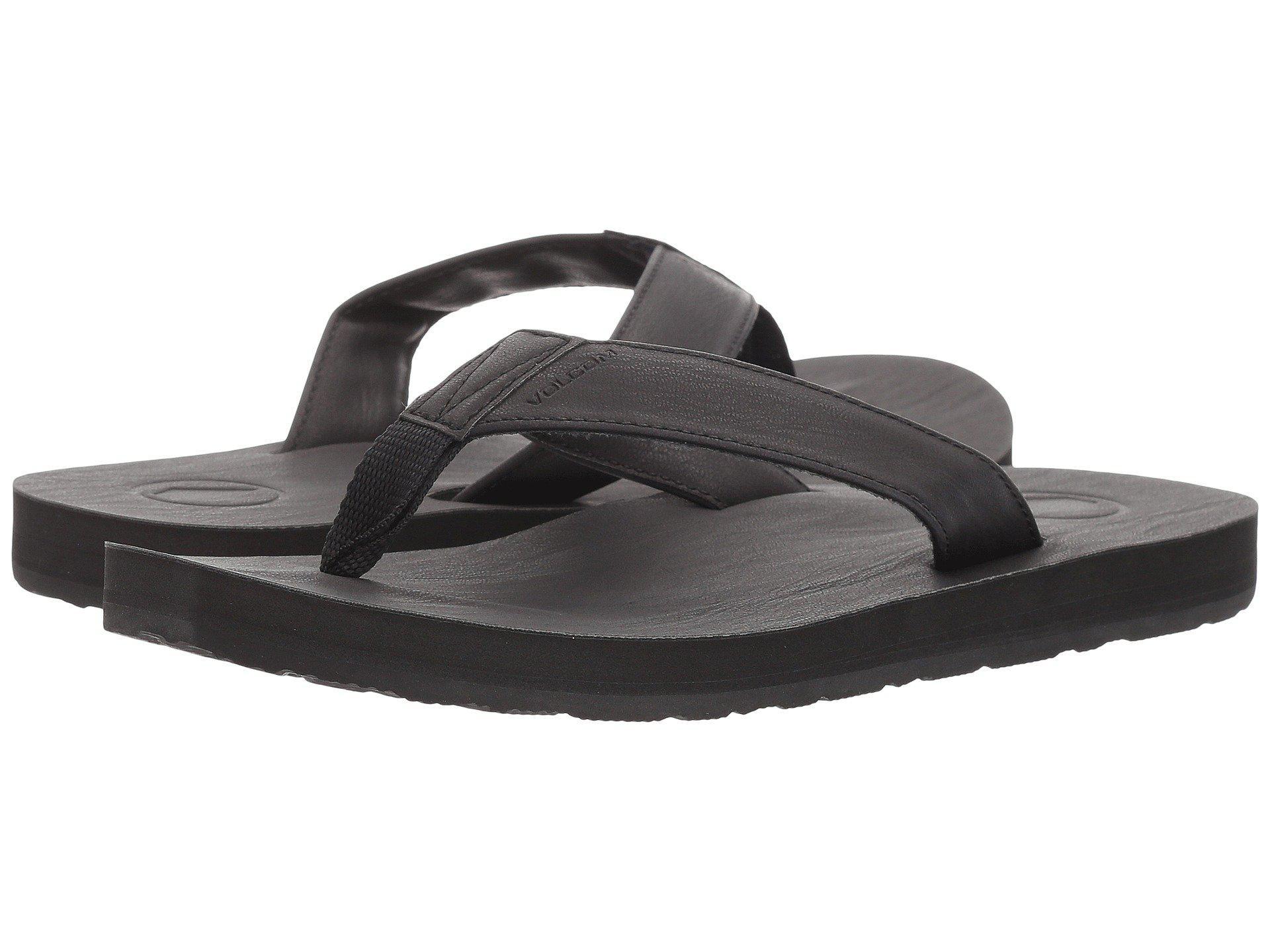 708cb998758c2 Lyst - Volcom Fathom Sandal (black) Men s Shoes in Black for Men