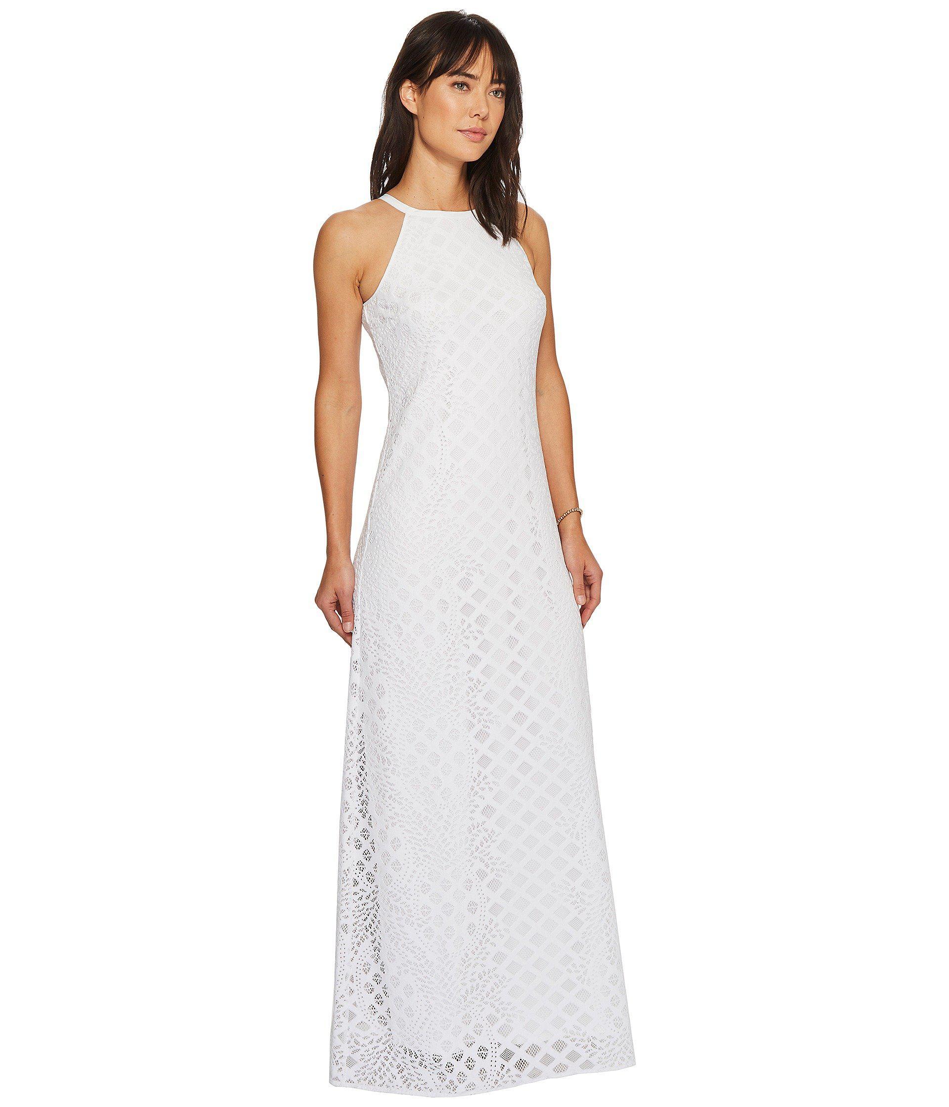 Lyst Lilly Pulitzer Pearl Maxi Dress Resort White Pineapple Geo