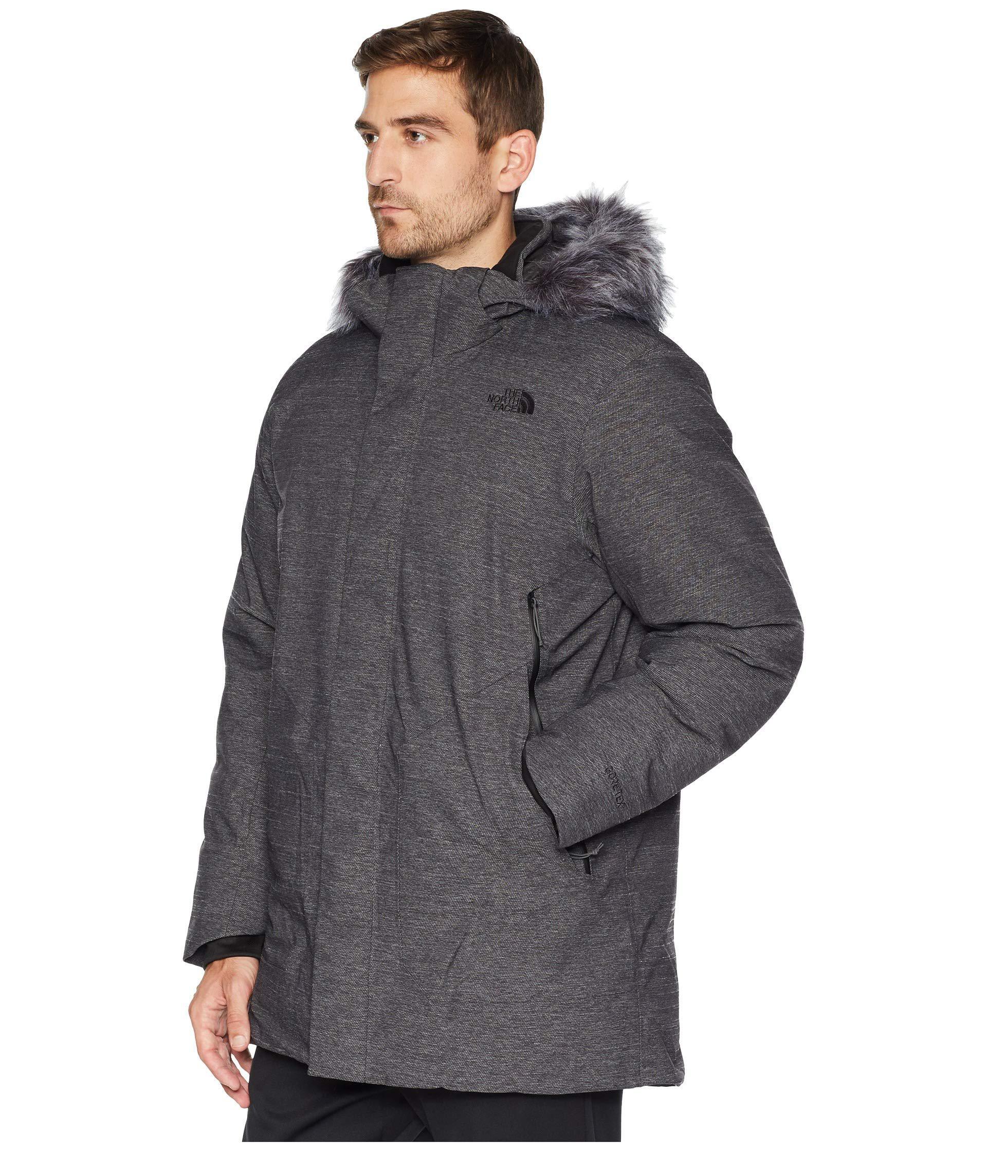 ... netherlands lyst the north face defdown parka gtx urban navy mens coat  in gray for men d8813e710