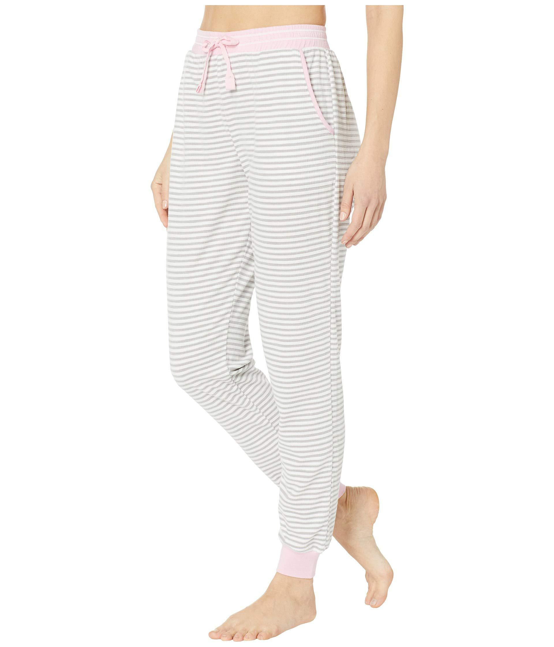 2fad40e009 Lyst - Jockey Cozy Fleece Jogger Pajama Pants (mini Grey Stripe) Women s  Pajama in Gray
