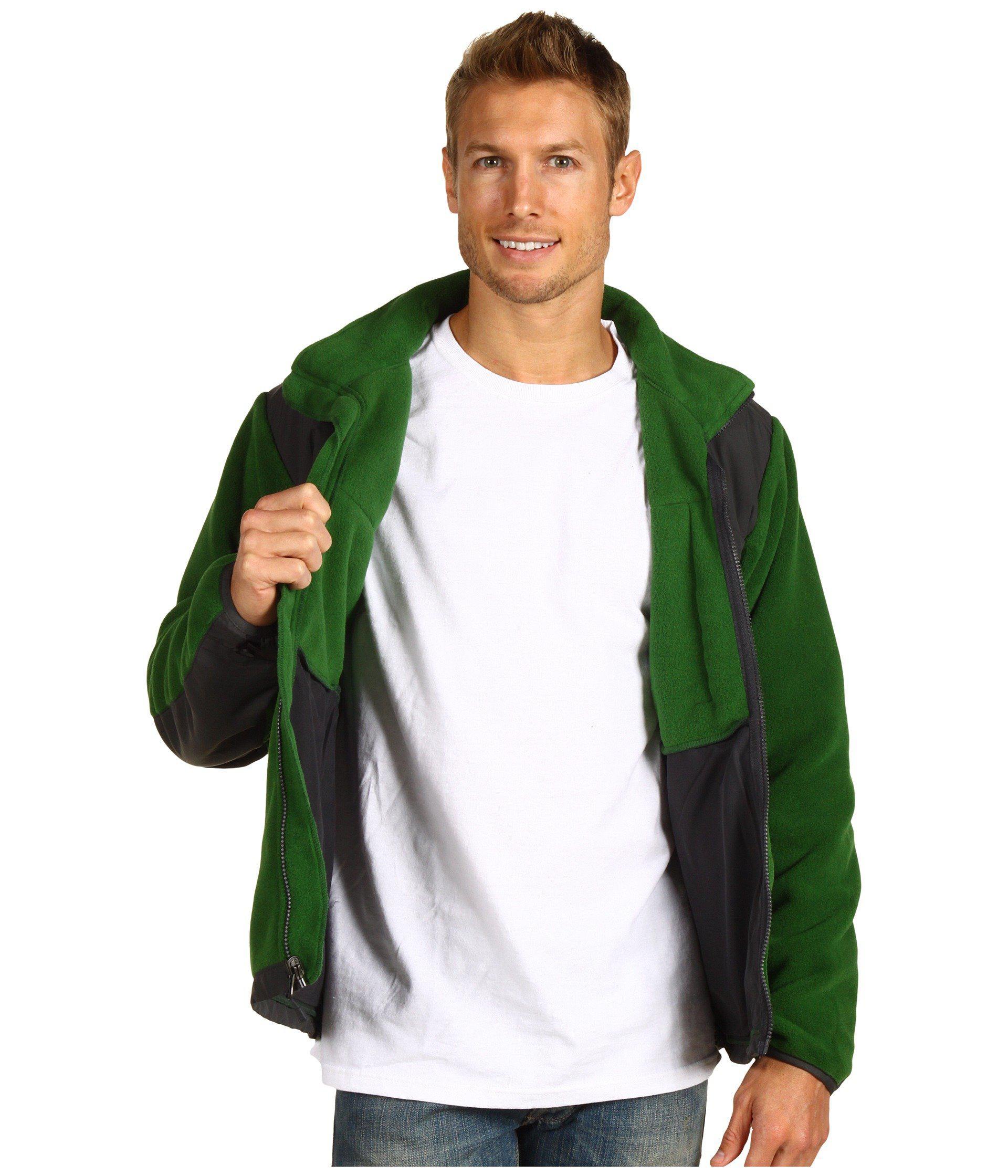 9c356084e The North Face Denali Jacket (r Ivy Green/asphalt Grey) Men's Coat ...