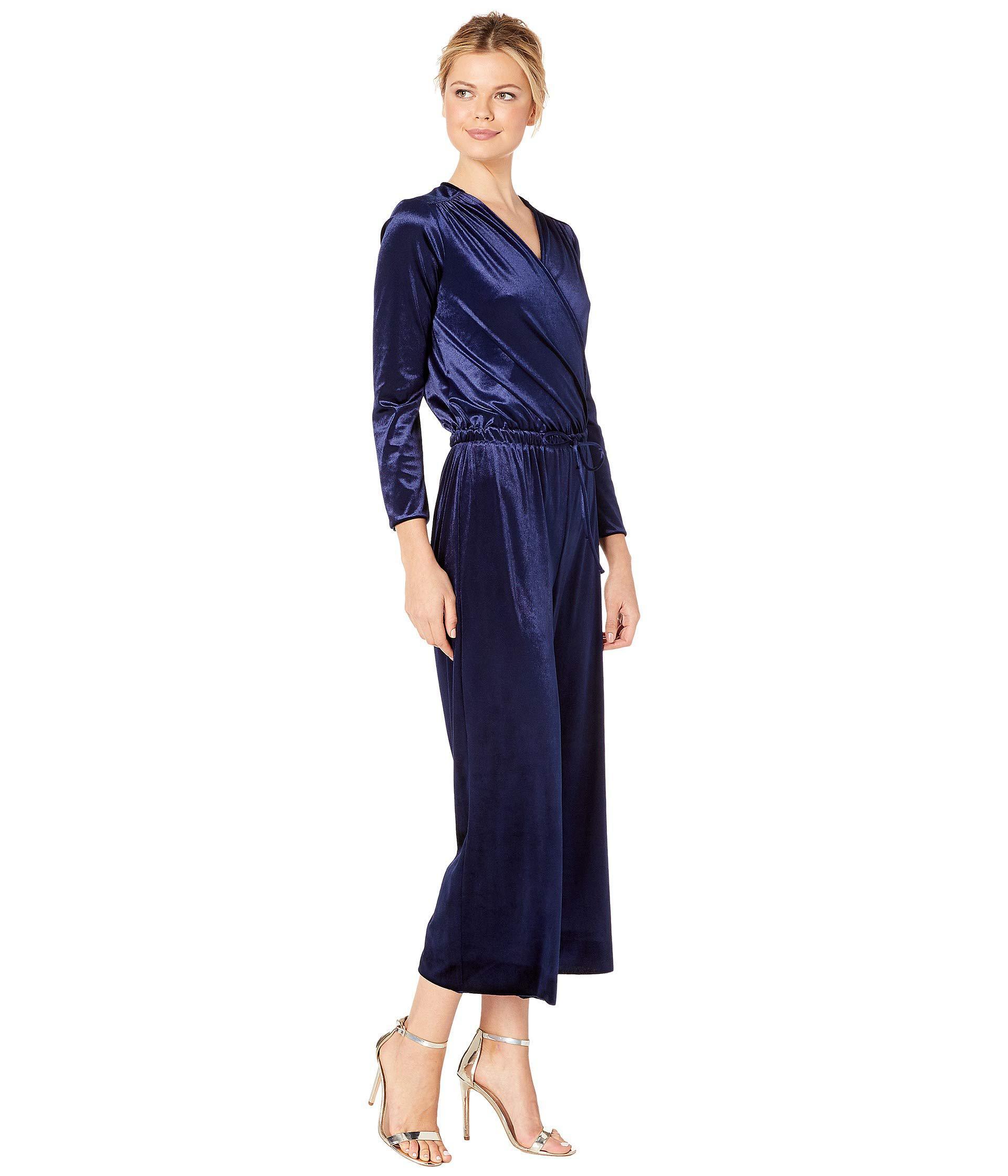 b808f45f32a9 Three Dots - Blue Stretch Panne Velvet Jumpsuit (navy) Women s Jumpsuit   Rompers  One. View fullscreen