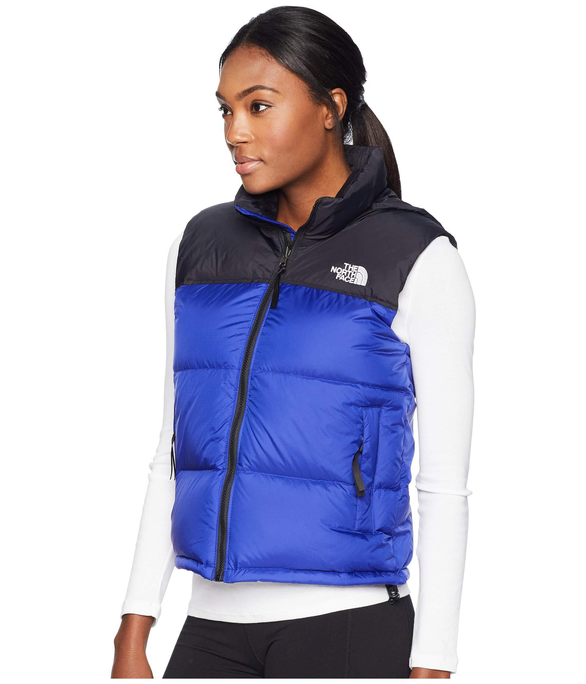 Lyst - The North Face 1996 Retro Nuptse Vest (tumbleweed Green) Women s  Vest in Blue - Save 1% 890ee64d8