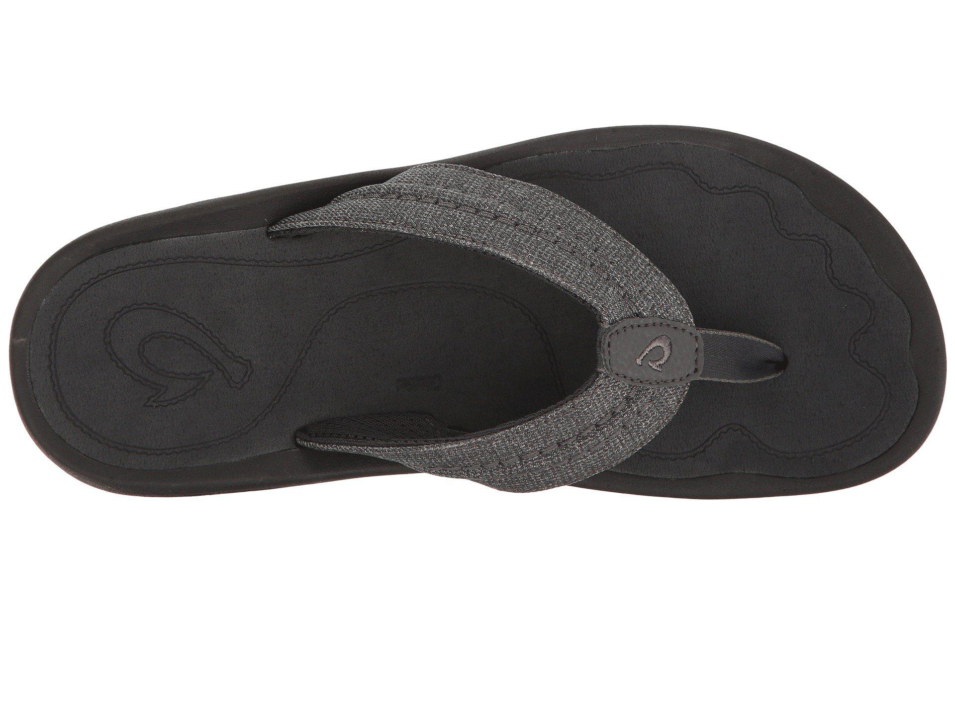 bcce8c3dc96d Lyst - Olukai Hokua Mesh (night dark Shadow) Men s Sandals in Black ...
