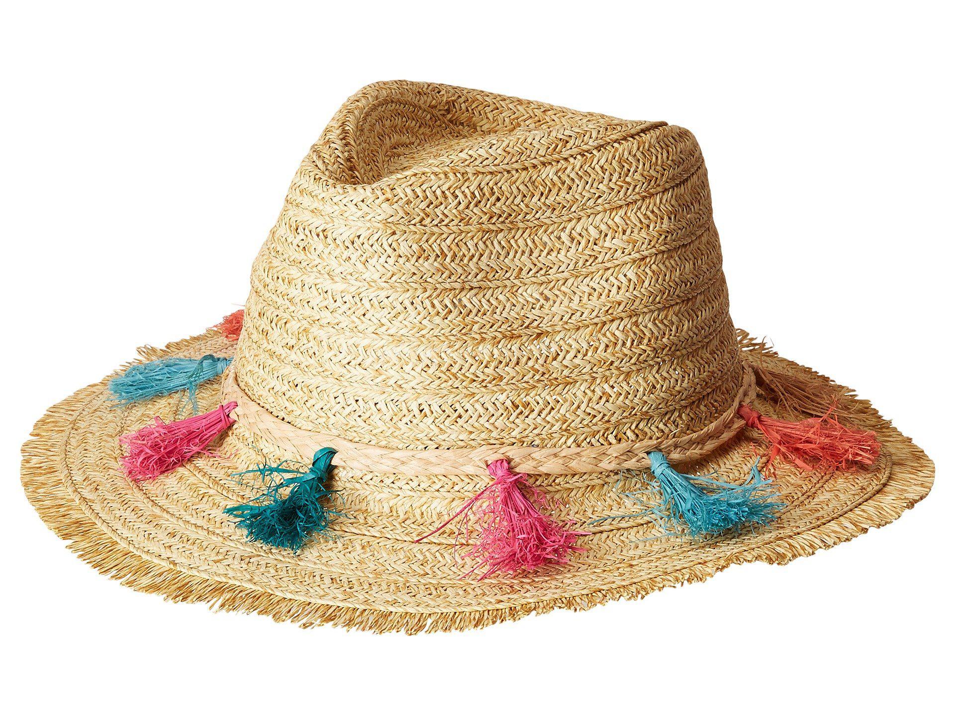 Lyst - San Diego Hat Company Ubf1104os Fedora W  Multi Color Tassels ... 41dbb65d62d