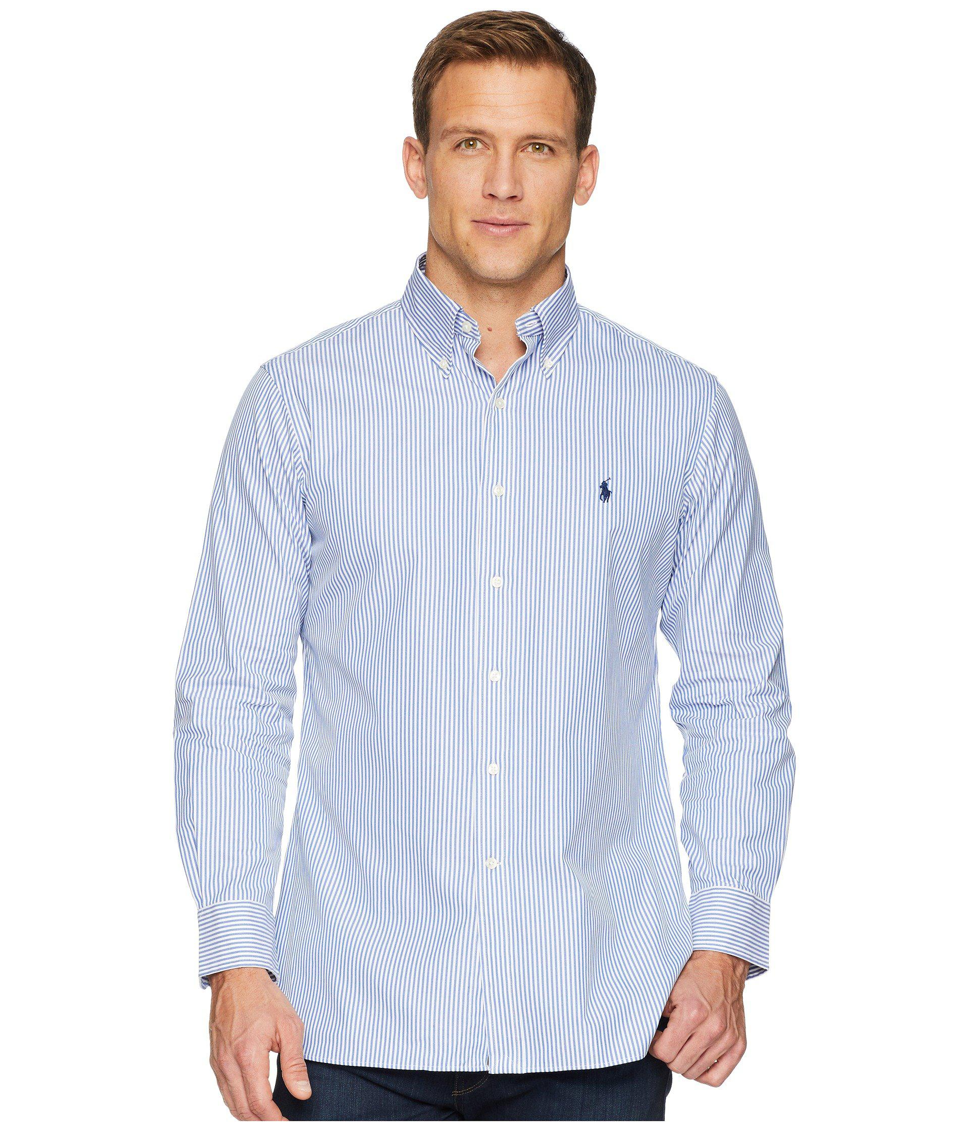 eb678aafb12f Lyst - Polo Ralph Lauren Standard Fit Poplin Dress Shirt (blue white ...