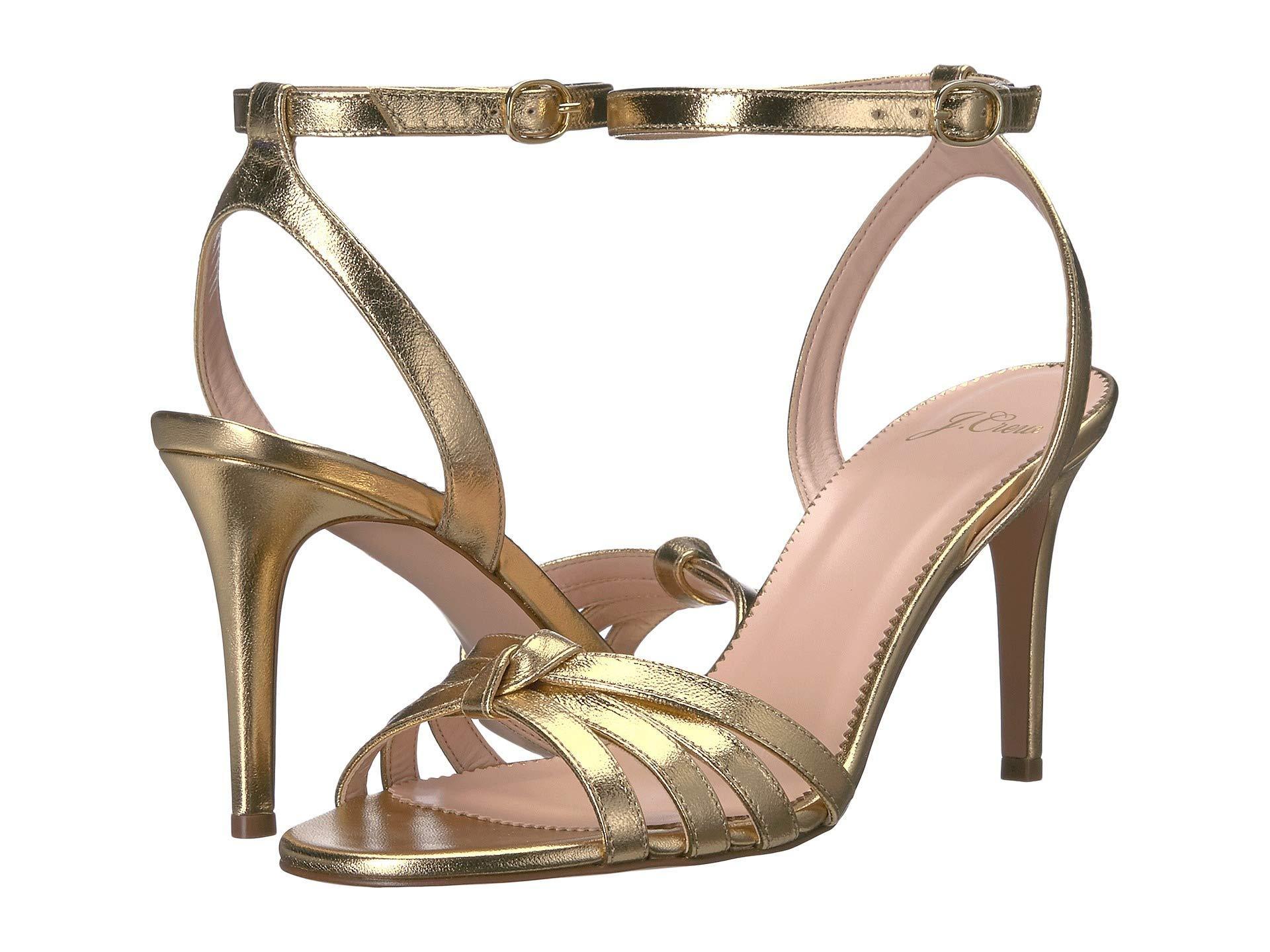 edc1e66ceed J.Crew Riley Sandal In Metallic Leather (metallic Gold) Women's ...