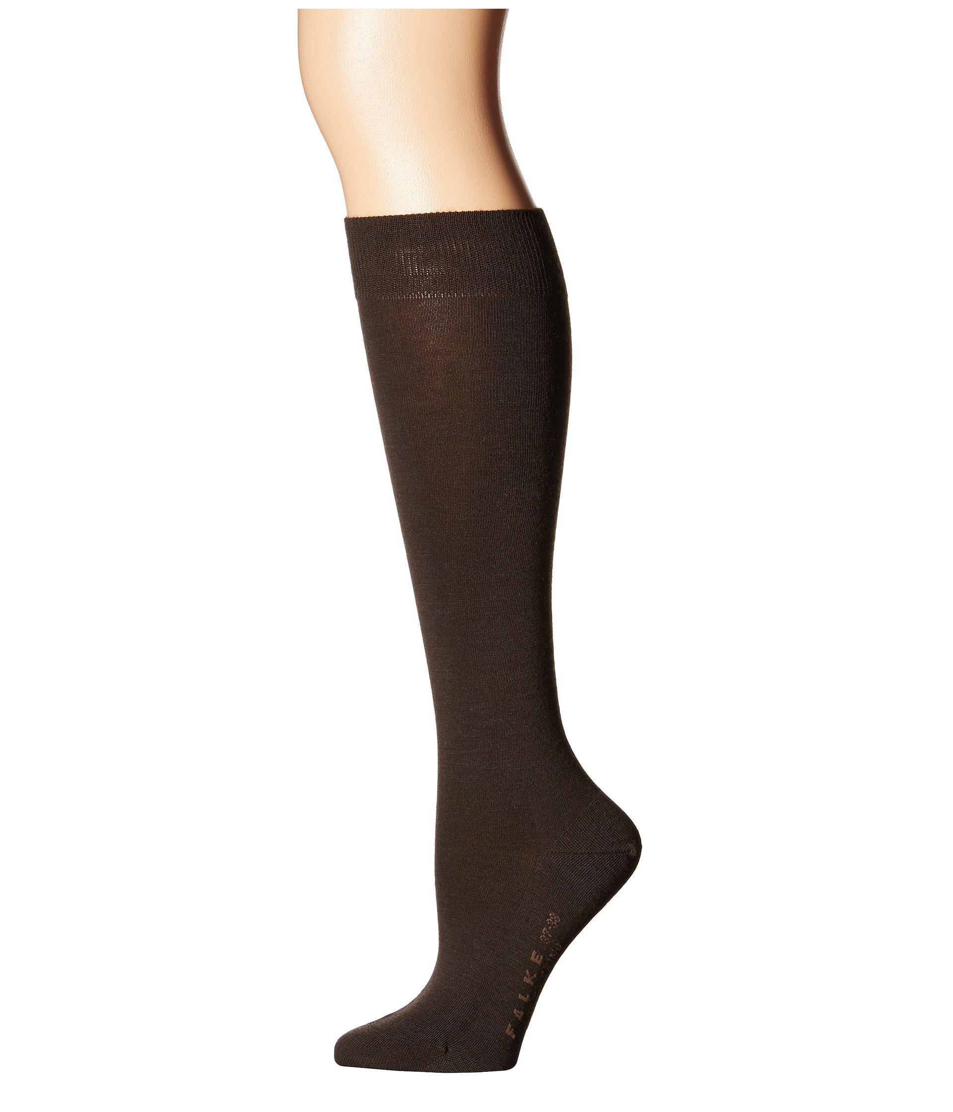 719a373bc04 Lyst - Falke Soft Merino Knee Highs (brown) Women s Knee High Socks ...