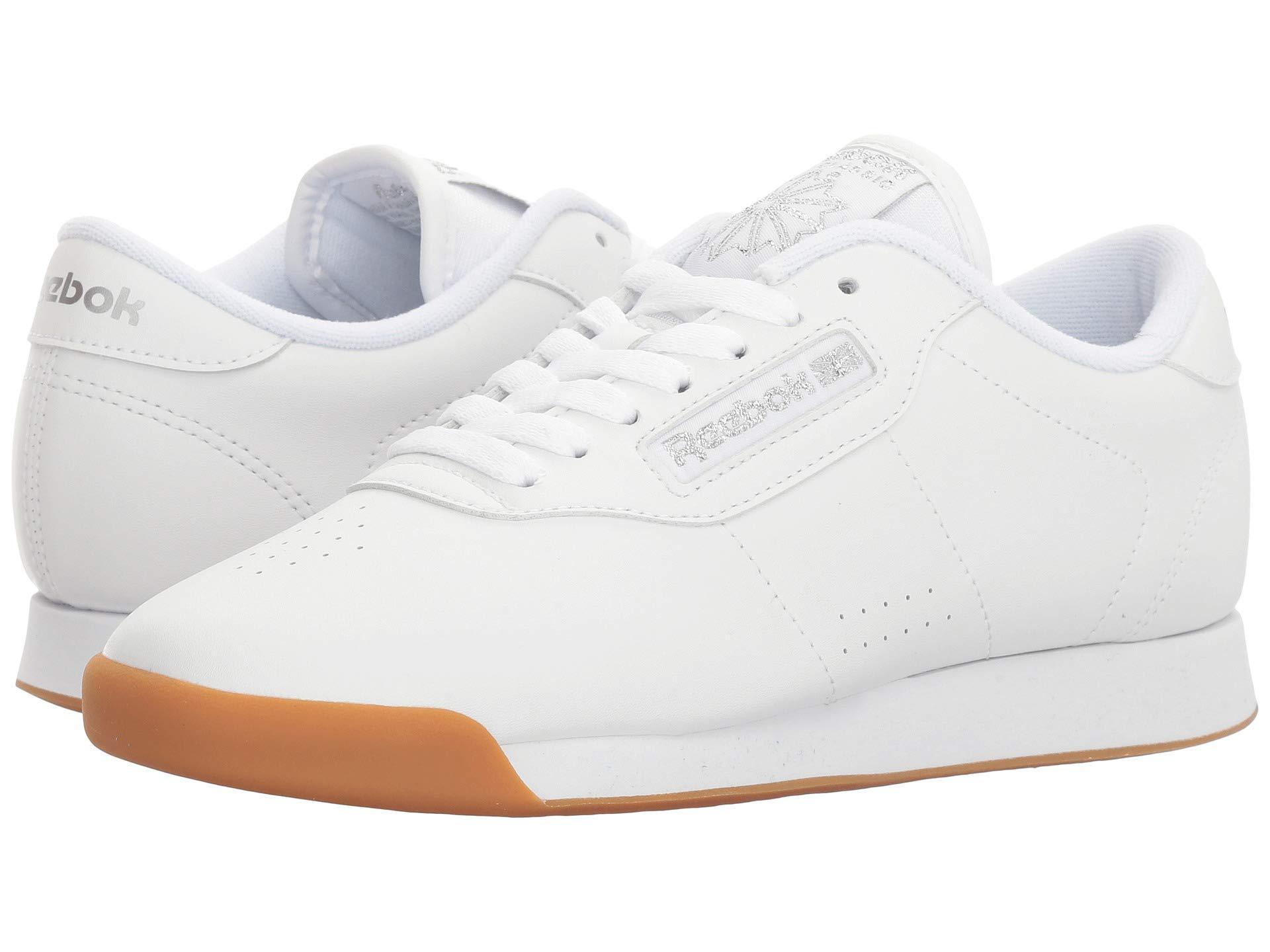 Lyst - Reebok Princess (black gum) Women s Shoes in White 1a448fc1c