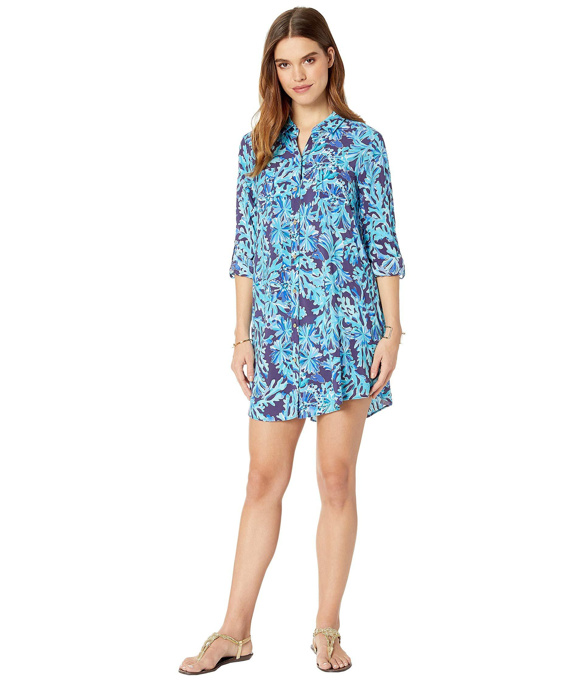 e739726843185 Lyst - Lilly Pulitzer Natalie Cover-up (multi Postcards From ...