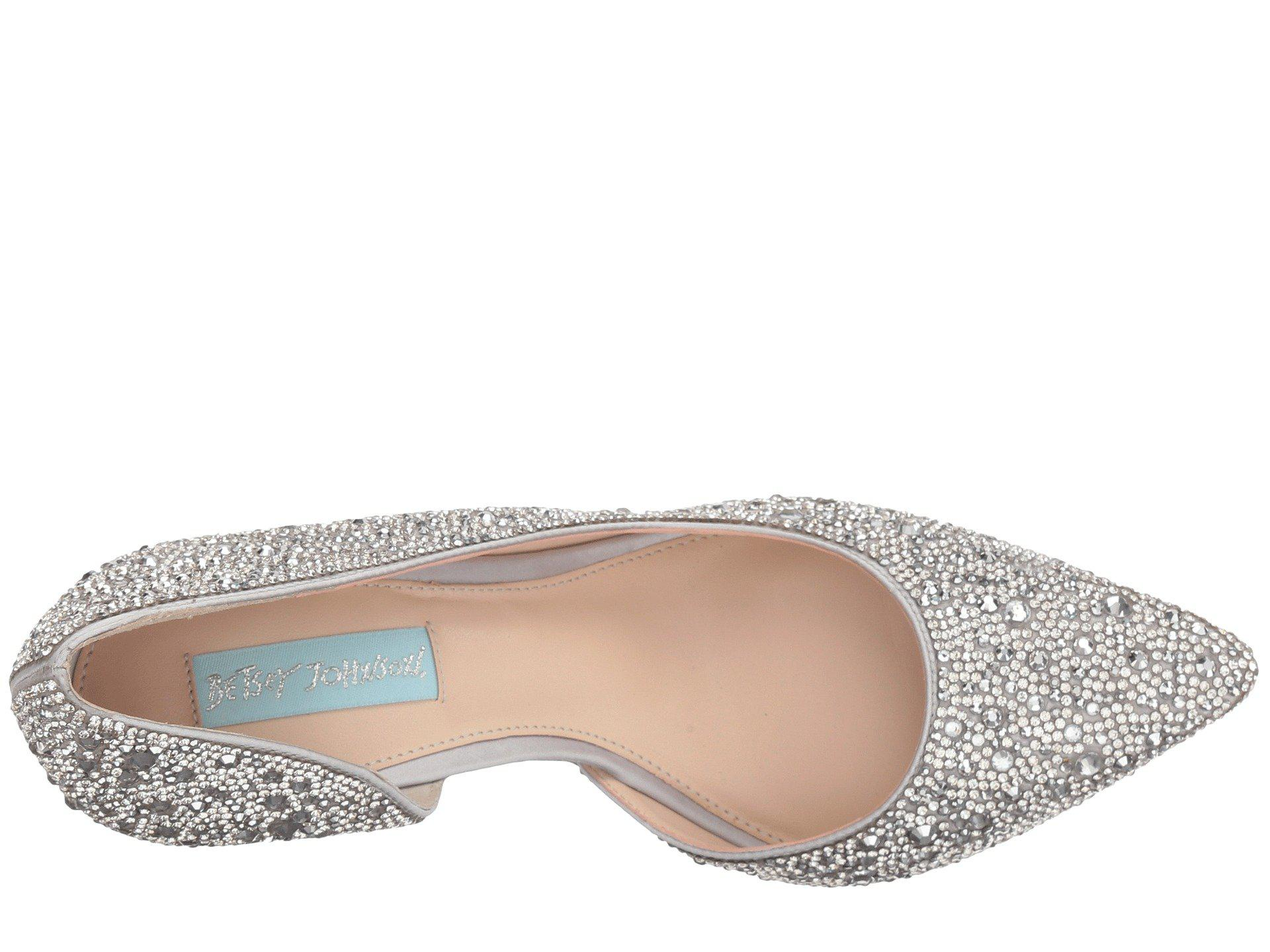 8509abcc334 Betsey Johnson - Metallic Hazil (silver Satin) High Heels - Lyst. View  fullscreen