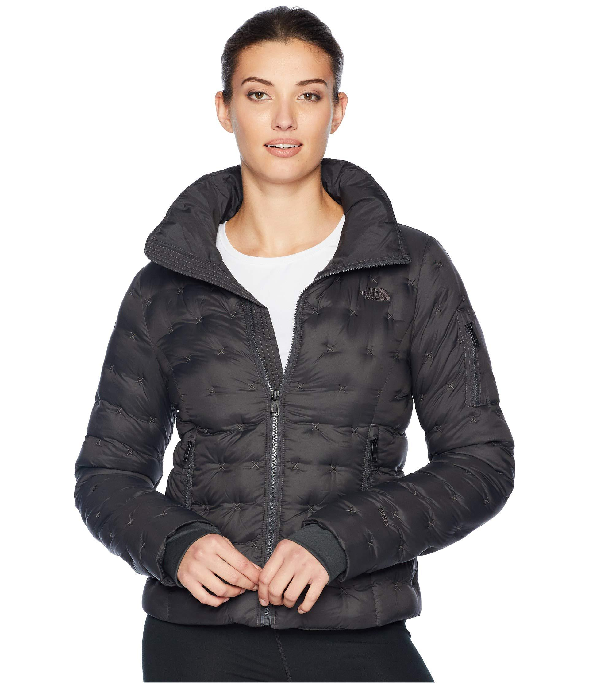 29942bc3540 Lyst - The North Face Holladown Crop Jacket (tnf White) Women s Coat ...