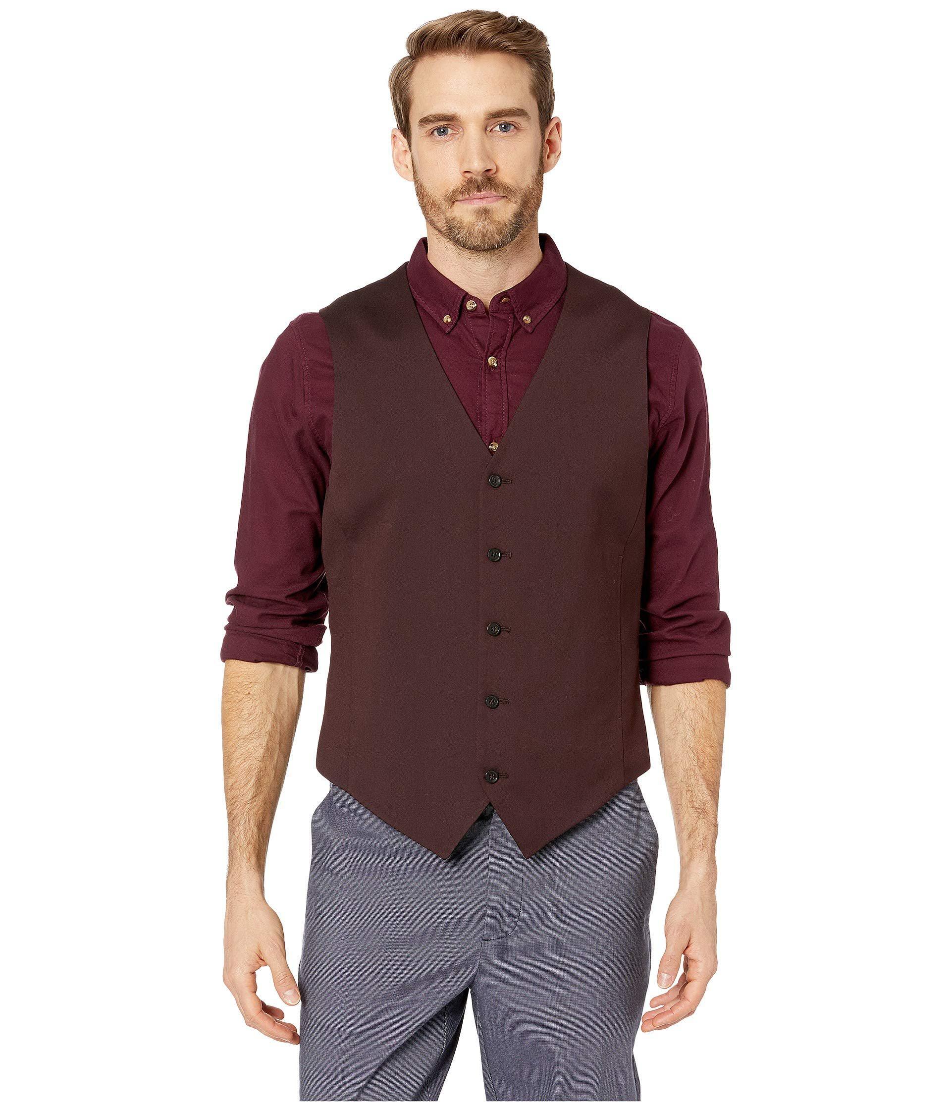 754f9915c4 Lyst - Perry Ellis Slim Fit Stretch Twill Suit Vest (port) Men s ...