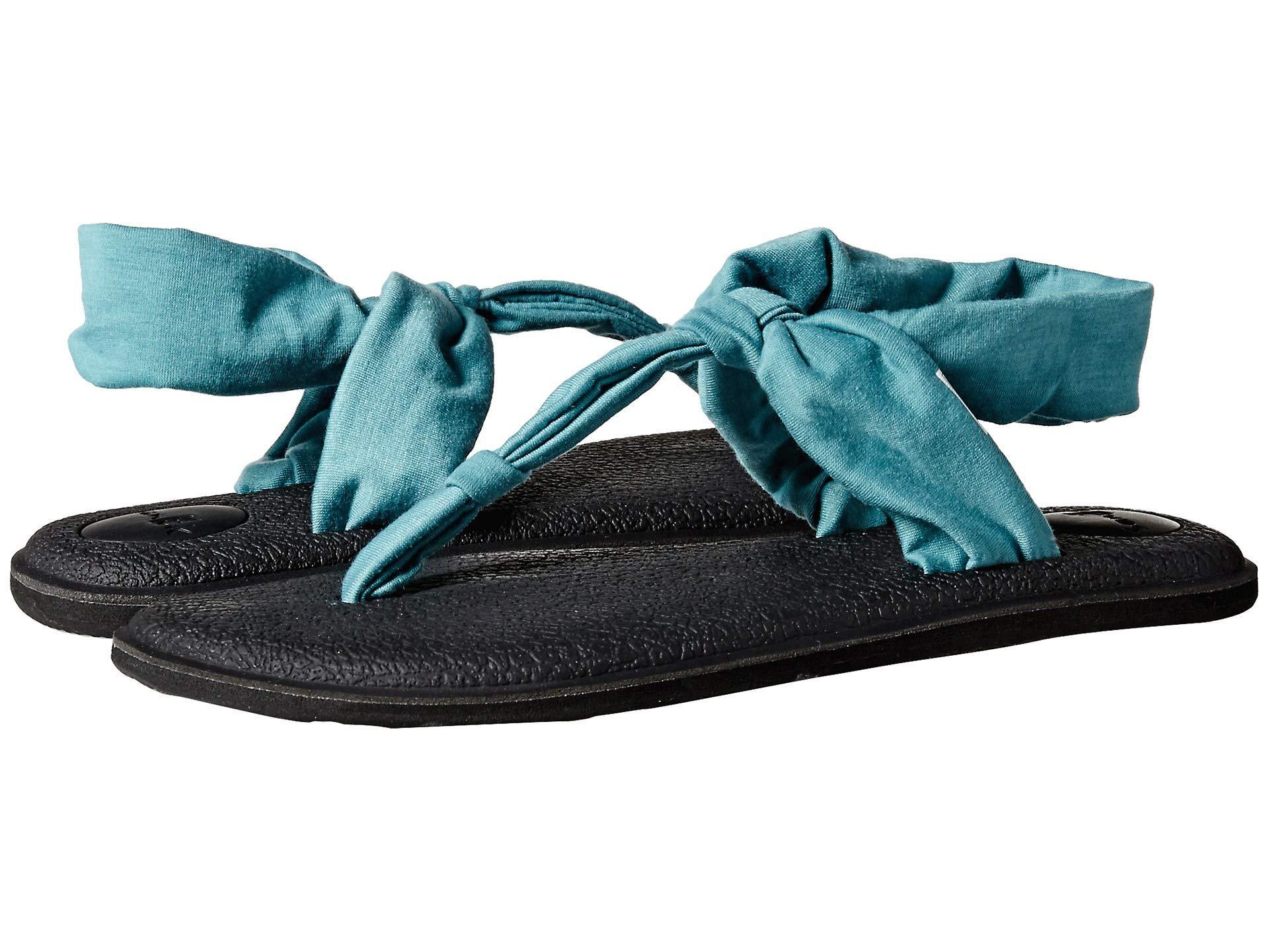 7d18e84fa Lyst - Sanuk Yoga Sling Ella (navy Peony) Women s Sandals in Blue