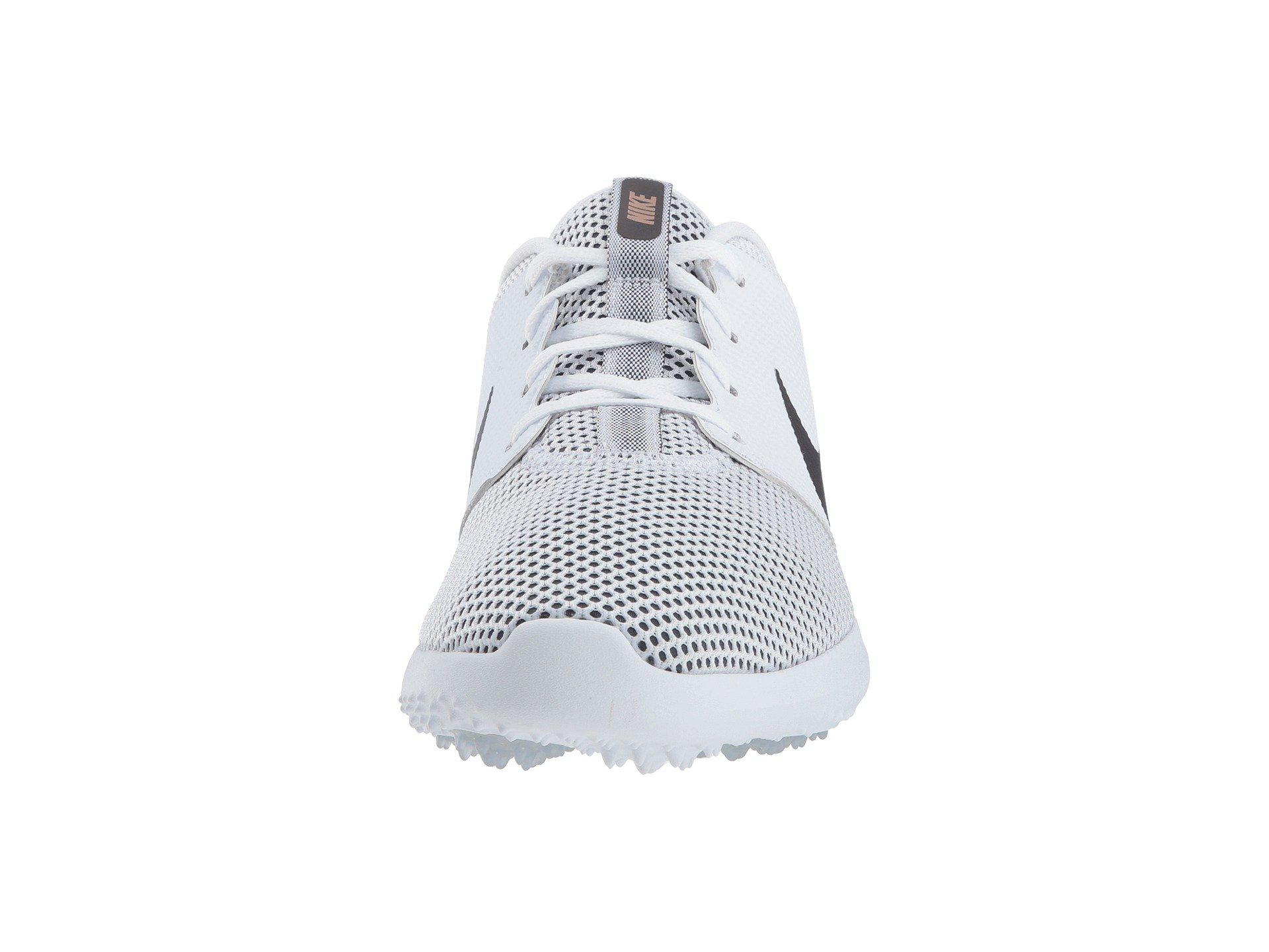 3e008e9cbb98 Nike Roshe G Golf Shoes White Gold  Nike womens lunar duet golf ...