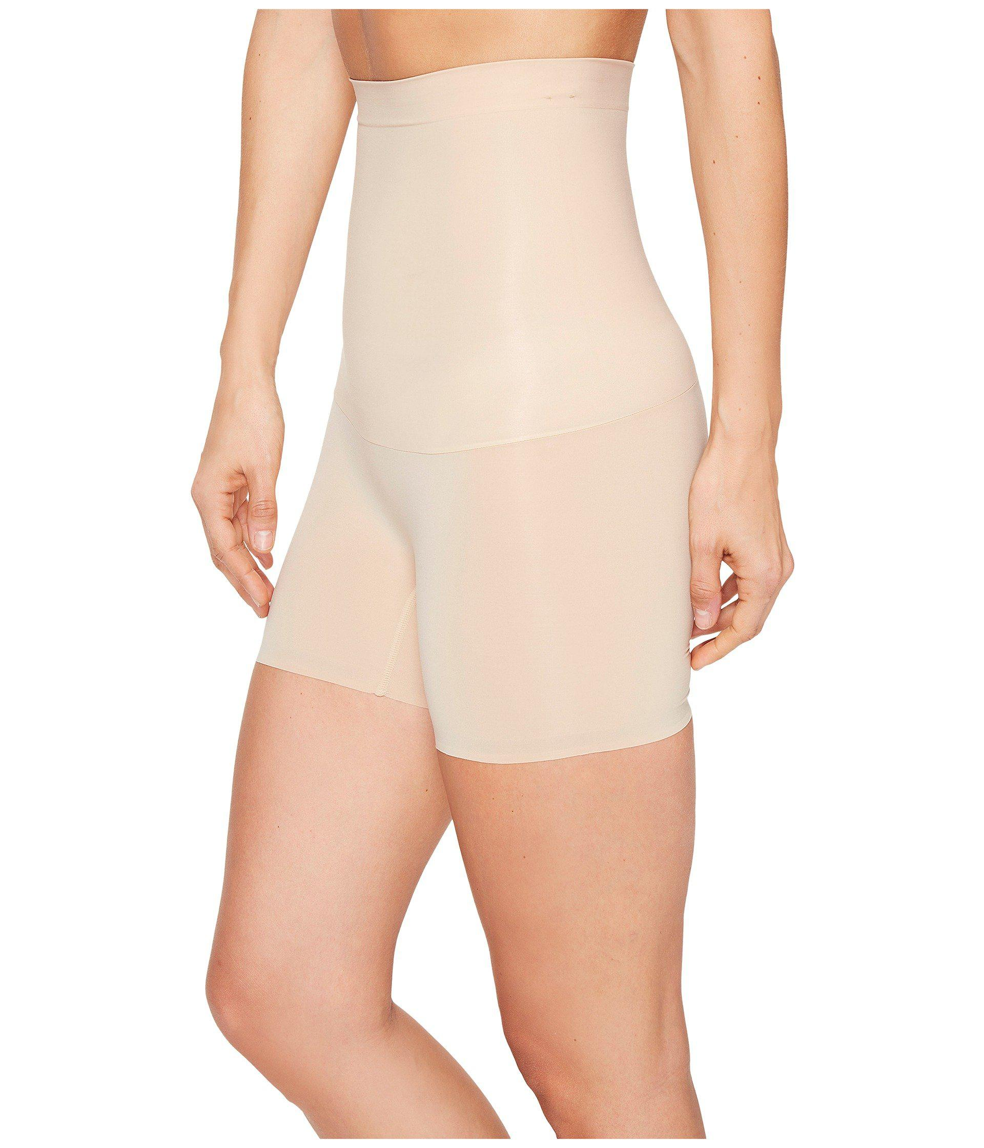 603541b35b1cc Lyst - Spanx Shape My Day High-waisted Girl Short (natural) Women s  Underwear in Natural